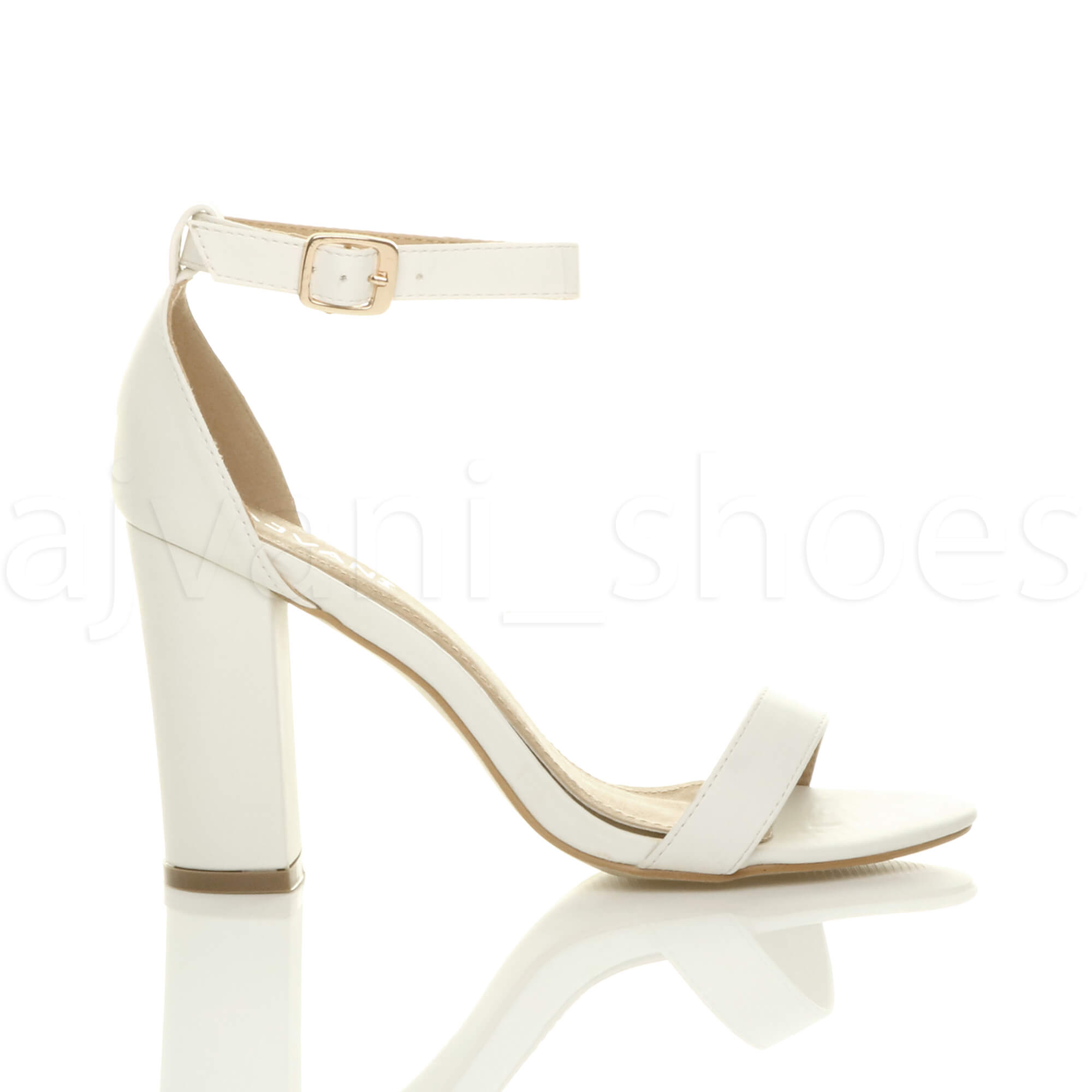 WOMENS-LADIES-BLOCK-HIGH-HEEL-ANKLE-STRAP-PEEP-TOE-STRAPPY-SANDALS-SHOES-SIZE thumbnail 168