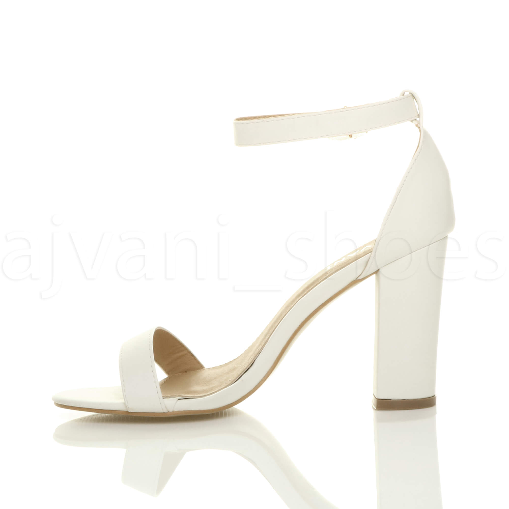 WOMENS-LADIES-BLOCK-HIGH-HEEL-ANKLE-STRAP-PEEP-TOE-STRAPPY-SANDALS-SHOES-SIZE thumbnail 169