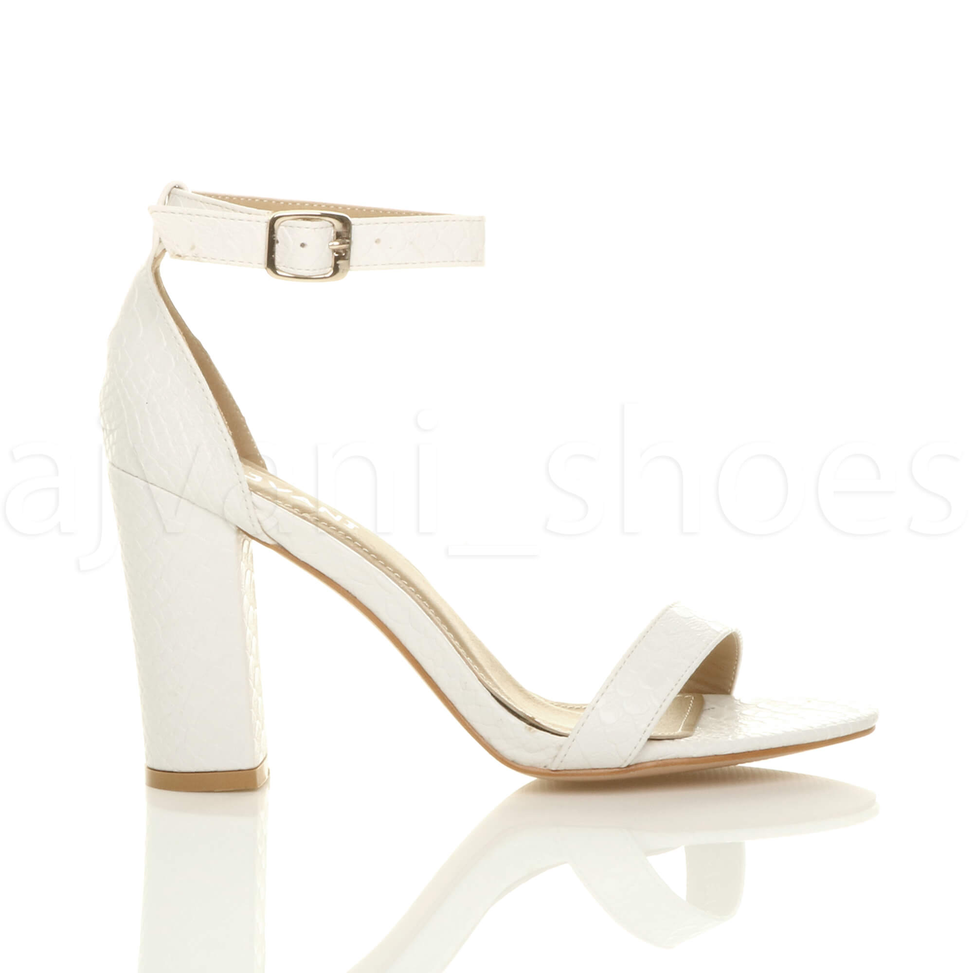 WOMENS-LADIES-BLOCK-HIGH-HEEL-ANKLE-STRAP-PEEP-TOE-STRAPPY-SANDALS-SHOES-SIZE thumbnail 175