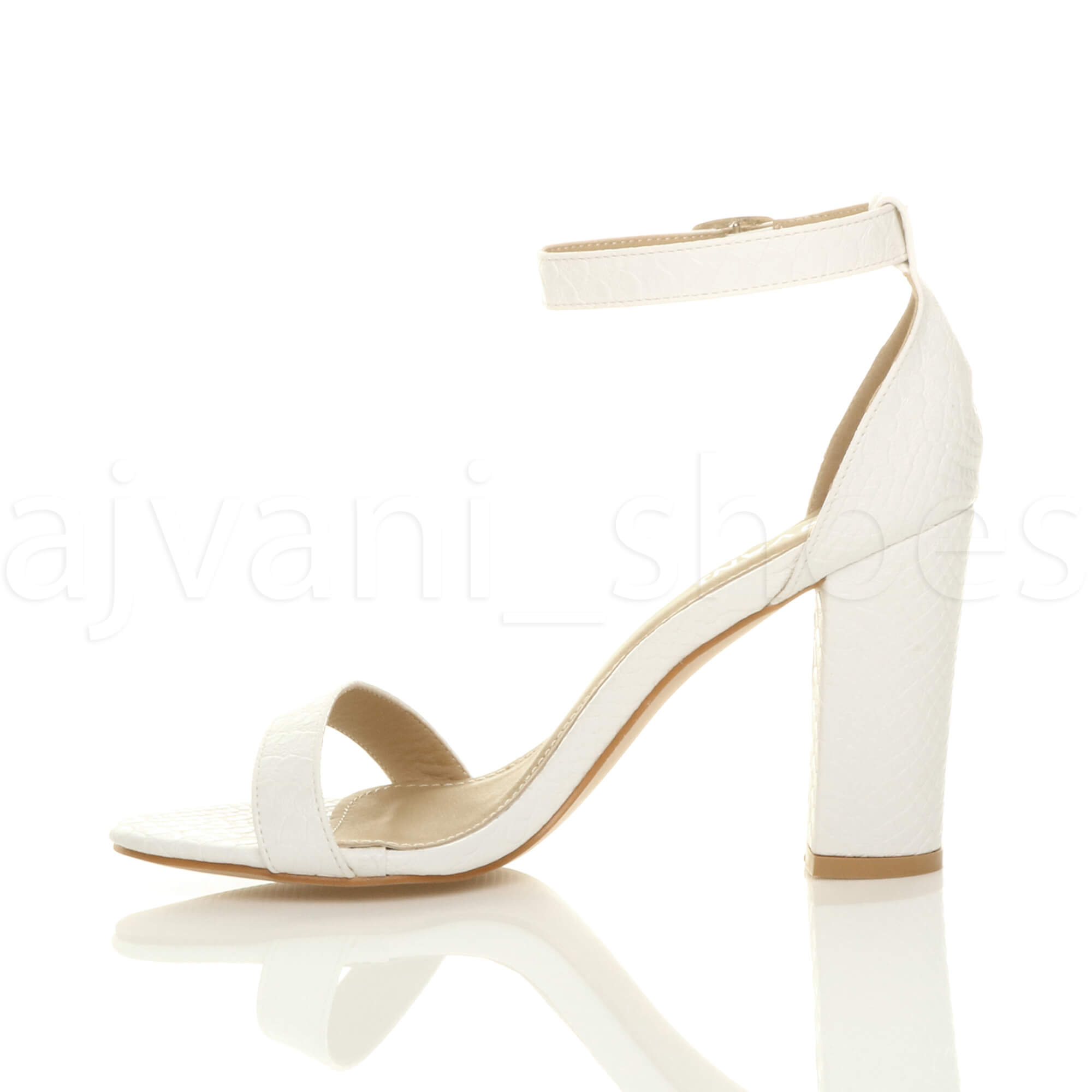 WOMENS-LADIES-BLOCK-HIGH-HEEL-ANKLE-STRAP-PEEP-TOE-STRAPPY-SANDALS-SHOES-SIZE thumbnail 176
