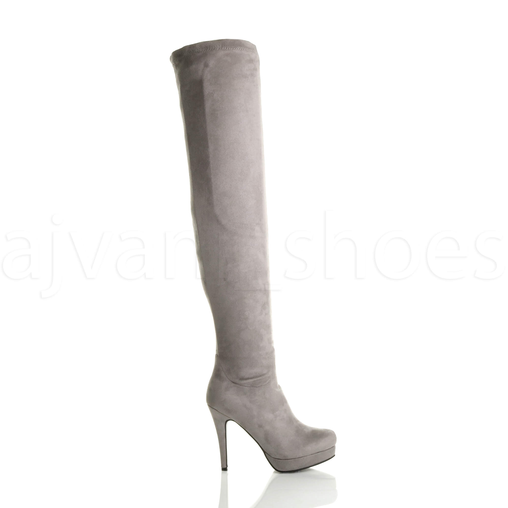 WOMENS-LADIES-HIGH-HEEL-STRETCH-ZIP-PLATFORM-OVER-THE-KNEE-THIGH-BOOTS-SIZE