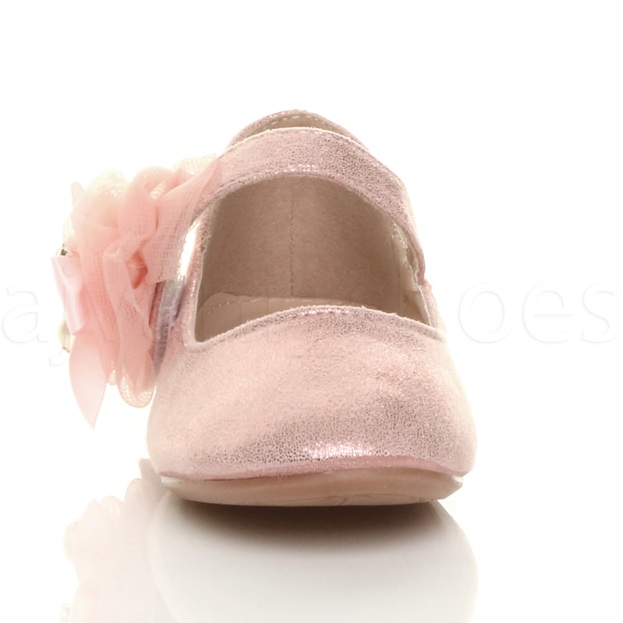 GIRLS-KIDS-CHILDRENS-FLAT-MARY-JANE-WEDDING-BRIDESMAID-SHOES-BALLERINAS-SIZE