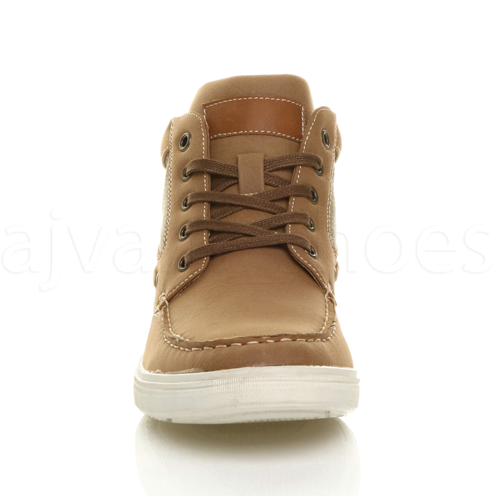 MENS-FLAT-LACE-UP-CASUAL-BOAT-CONTRAST-HI-TOP-TRAINERS-ANKLE-BOOTS-PUMPS-SIZE thumbnail 13