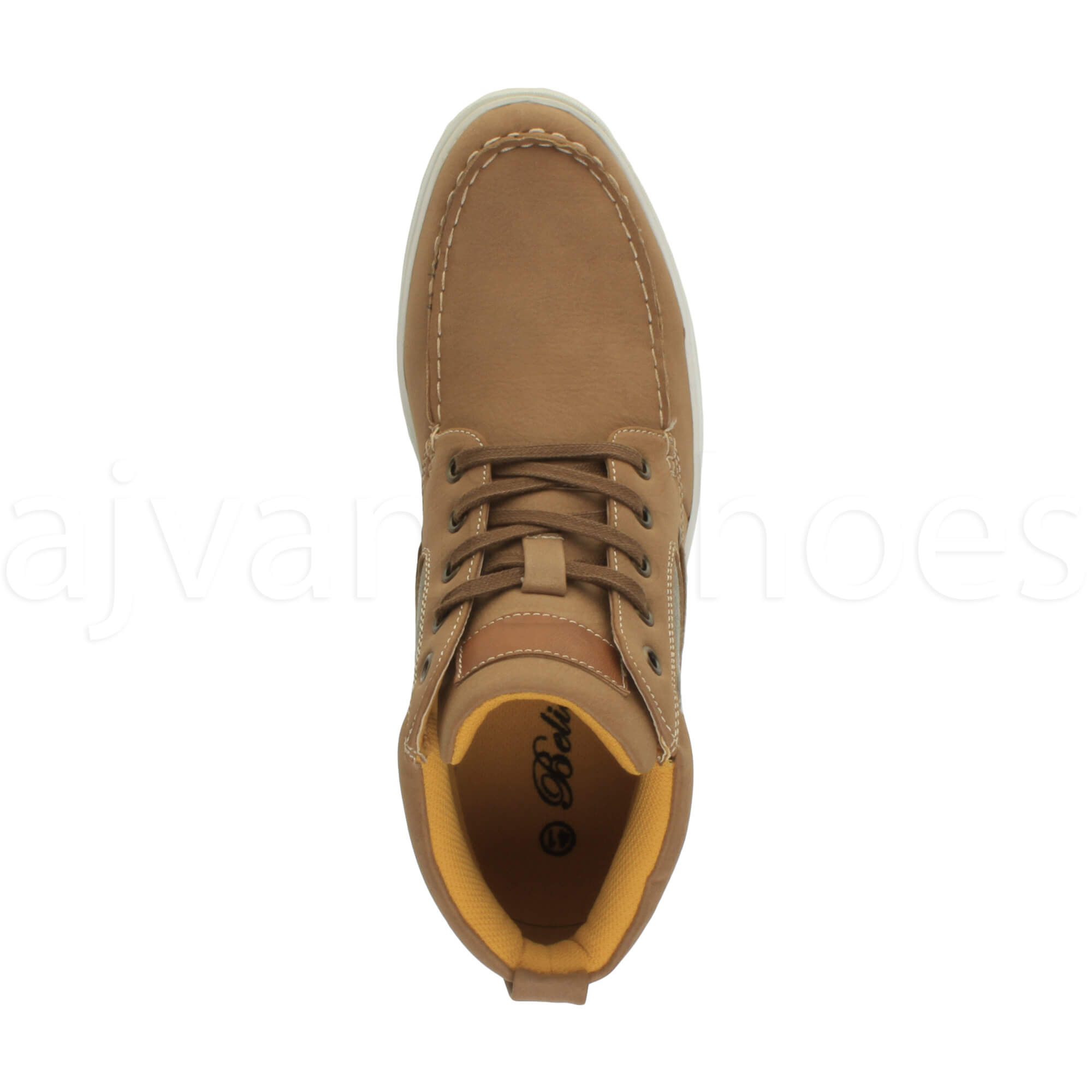 MENS-FLAT-LACE-UP-CASUAL-BOAT-CONTRAST-HI-TOP-TRAINERS-ANKLE-BOOTS-PUMPS-SIZE thumbnail 14