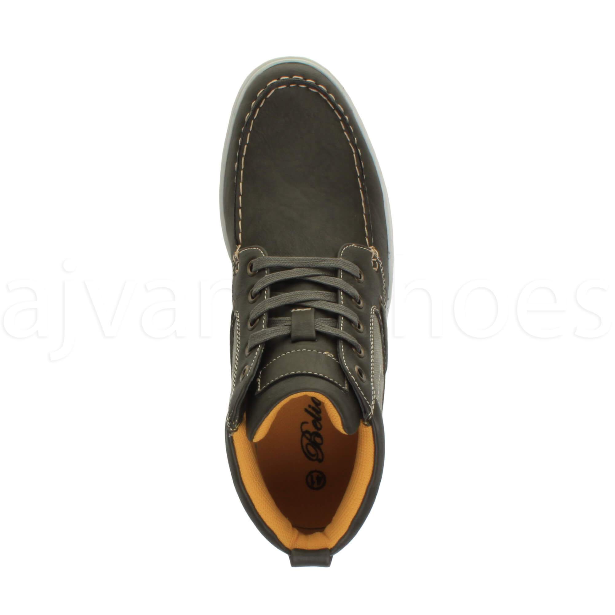 MENS-FLAT-LACE-UP-CASUAL-BOAT-CONTRAST-HI-TOP-TRAINERS-ANKLE-BOOTS-PUMPS-SIZE thumbnail 21