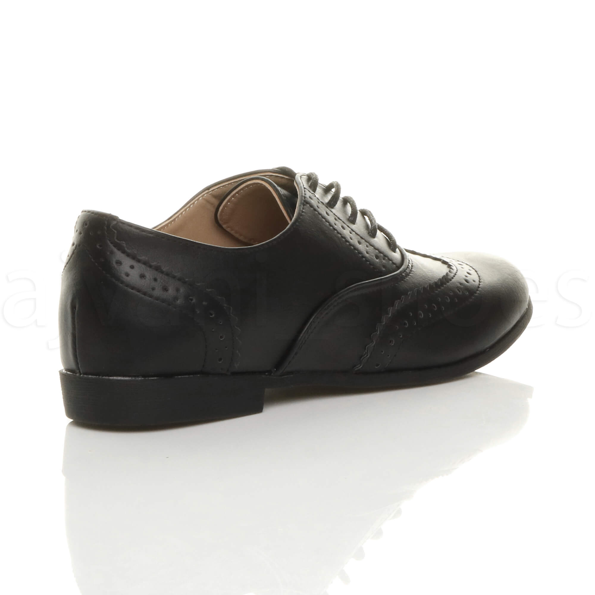 WOMENS-LADIES-FLAT-LOW-HEEL-LACE-UP-SMART-VINTAGE-OXFORD-SHOES-BROGUES-SIZE