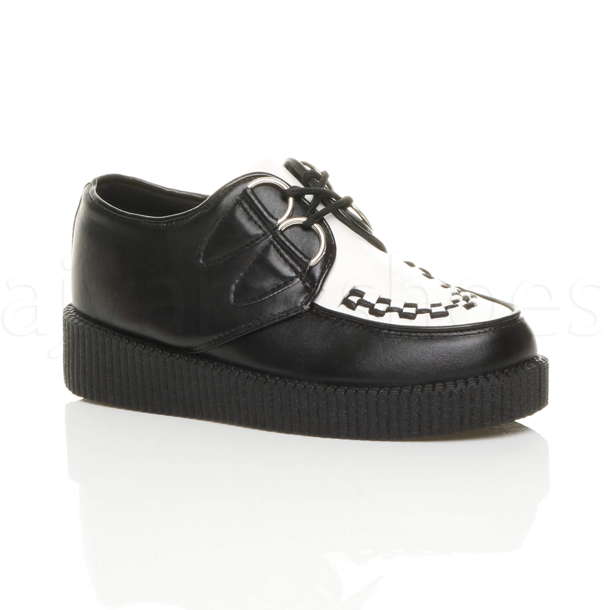 WOMENS-LADIES-FLAT-PLATFORM-WEDGE-LACE-UP-GOTH-PUNK-CREEPERS-SHOES-BOOTS-SIZE