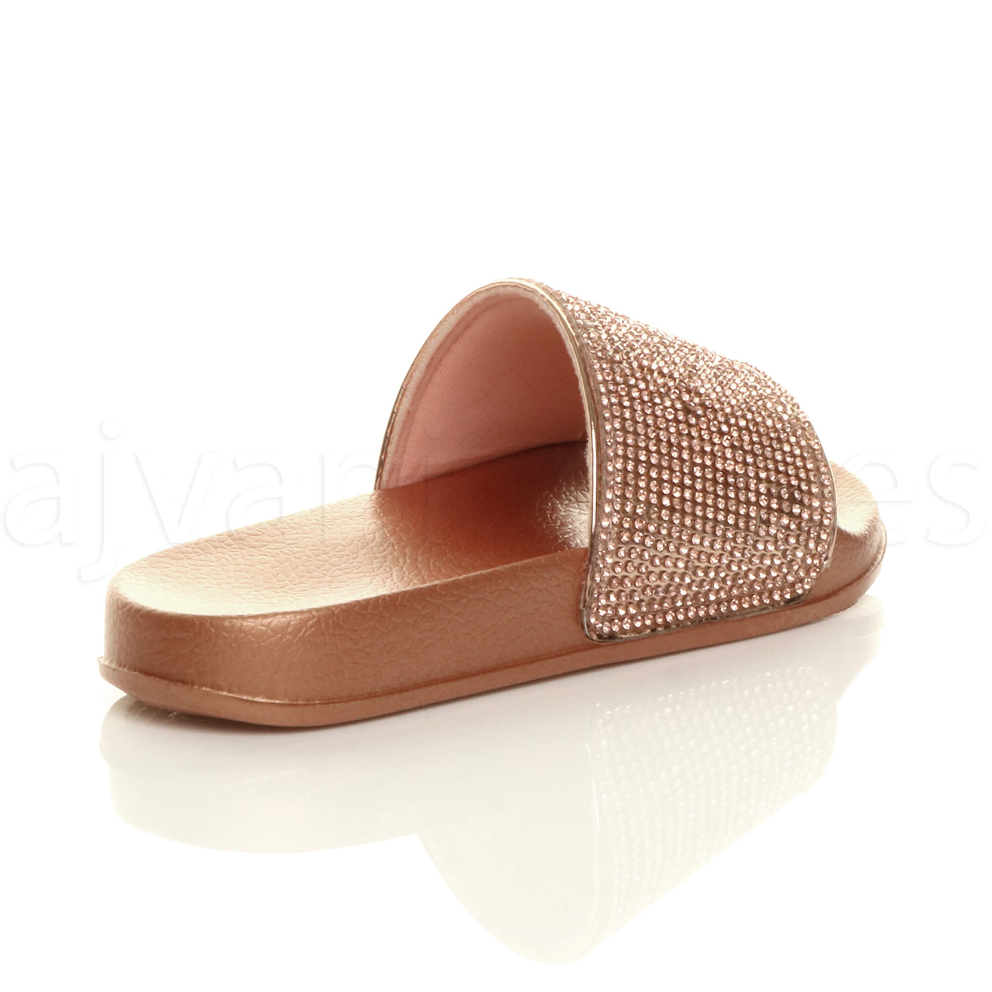 GIRLS-KIDS-CHILDRENS-FLAT-DIAMANTE-SPARKLY-SLIDERS-SANDALS-FLIP-FLOPS-SIZE