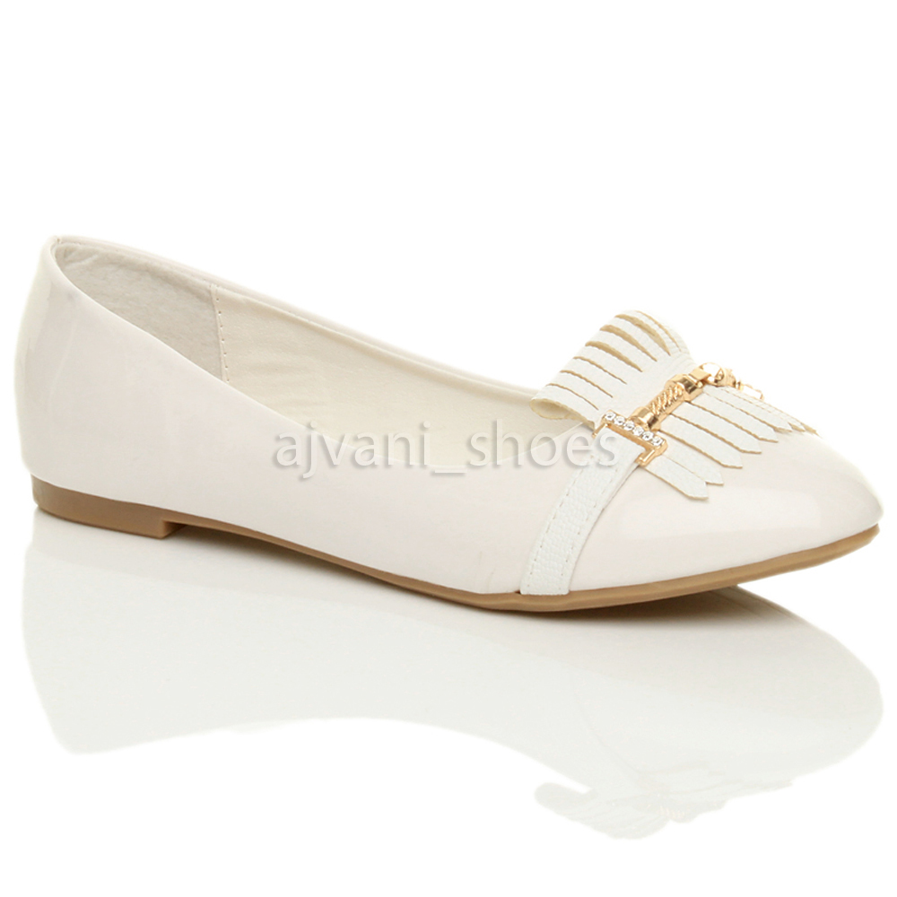 White Pointed Dolly Shoes