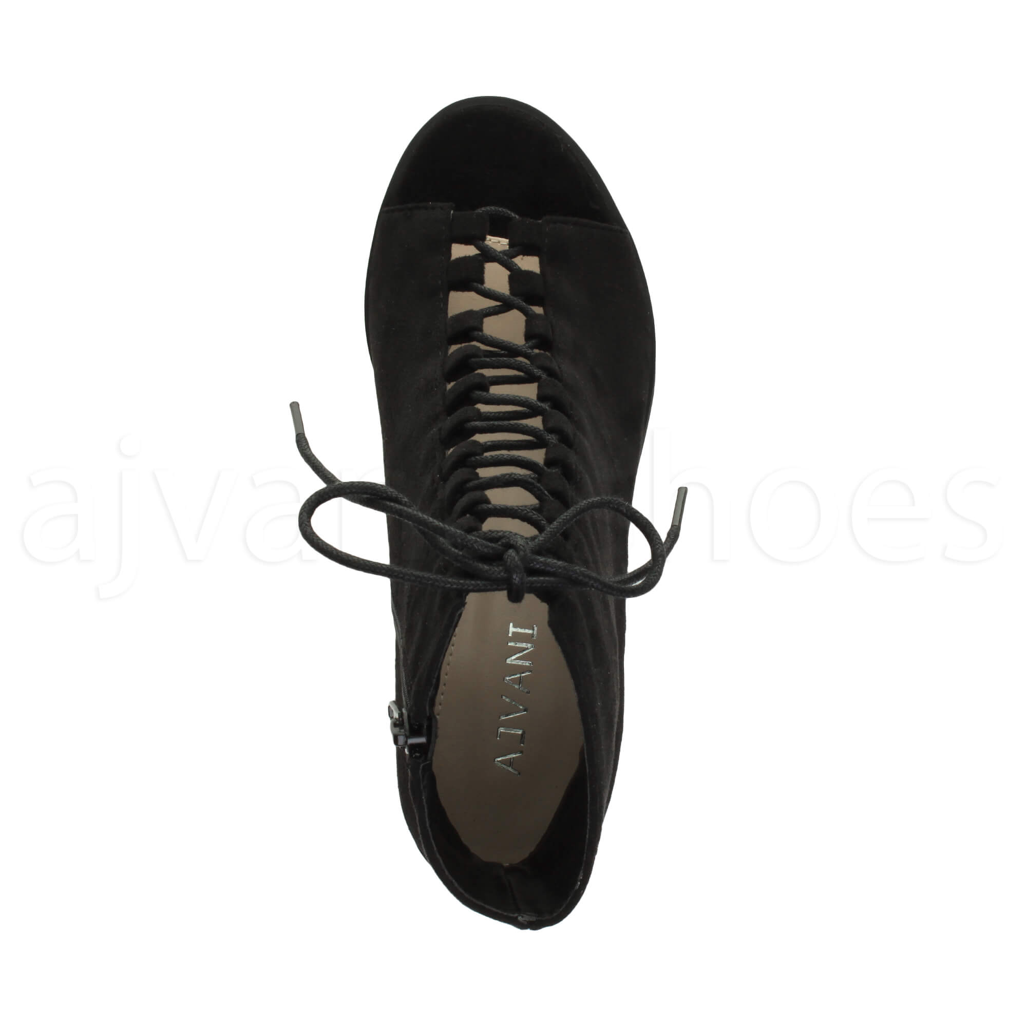 WOMENS-LADIES-BLOCK-MID-HEEL-LACE-UP-GHILLIE-ZIP-PEEP-TOE-ANKLE-BOOTS-SHOES-SIZE