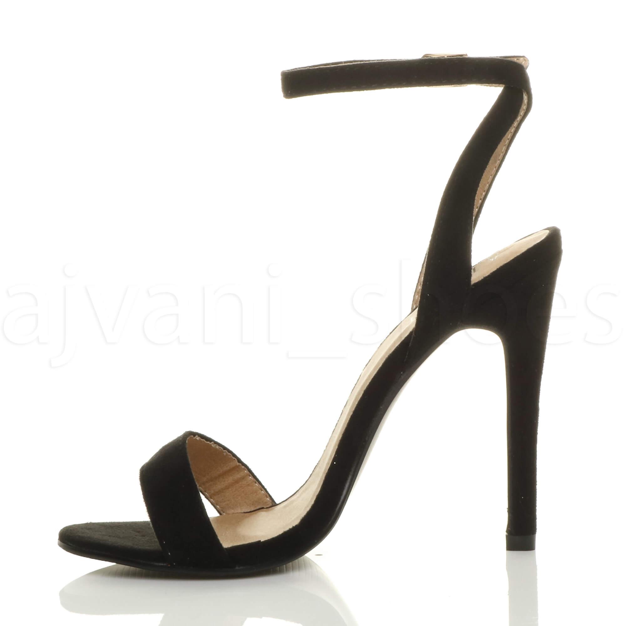 Donna-Alto-Tacco-Partito-Quasi-Li-Fibbia-Con-Cinturino-Sandali-Scarpe-Numero miniatura 60