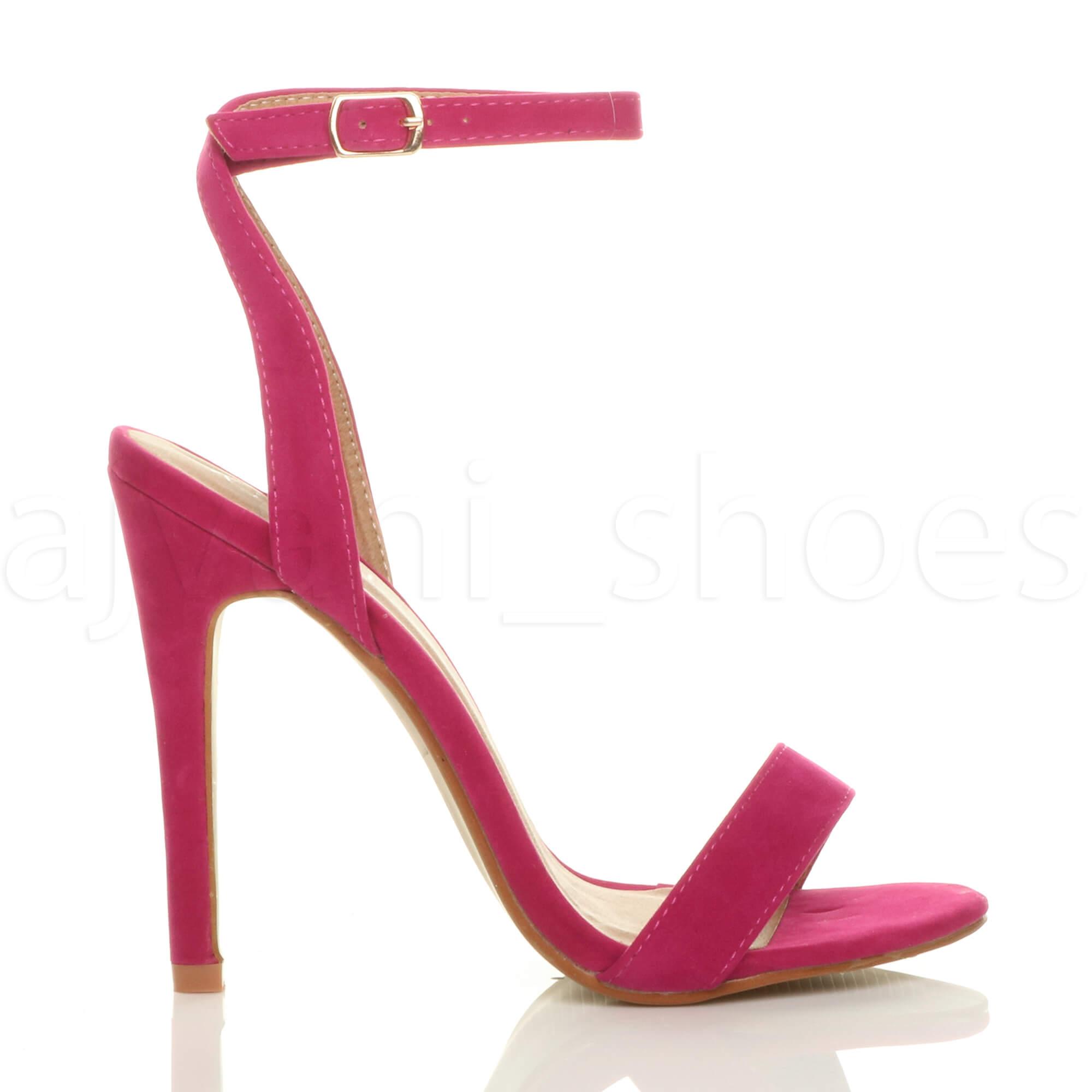 Donna-Alto-Tacco-Partito-Quasi-Li-Fibbia-Con-Cinturino-Sandali-Scarpe-Numero miniatura 35