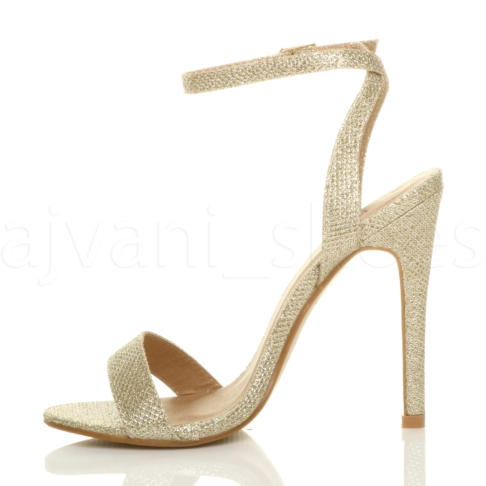 WOMENS-LADIES-HIGH-HEEL-ANKLE-STRAP-BARELY-THERE-STRAPPY-SANDALS-SHOES-SIZE thumbnail 46