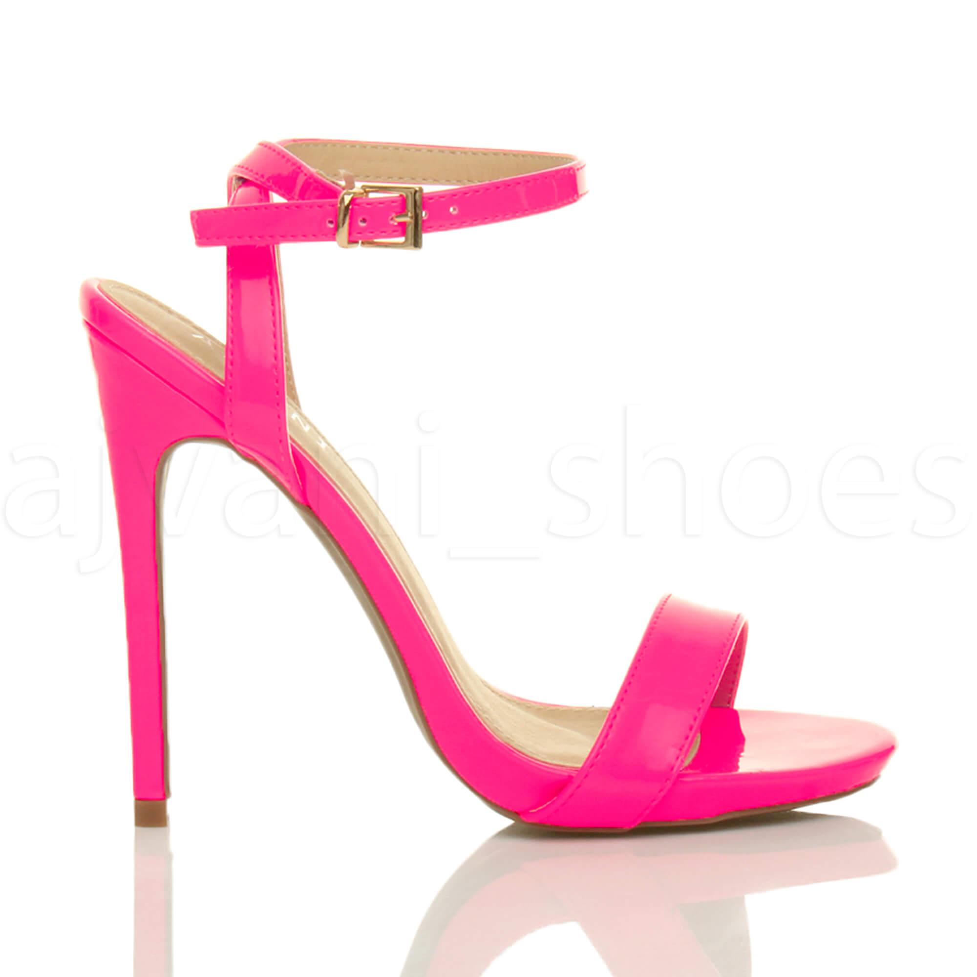 Donna-Alto-Tacco-Partito-Quasi-Li-Fibbia-Con-Cinturino-Sandali-Scarpe-Numero miniatura 27