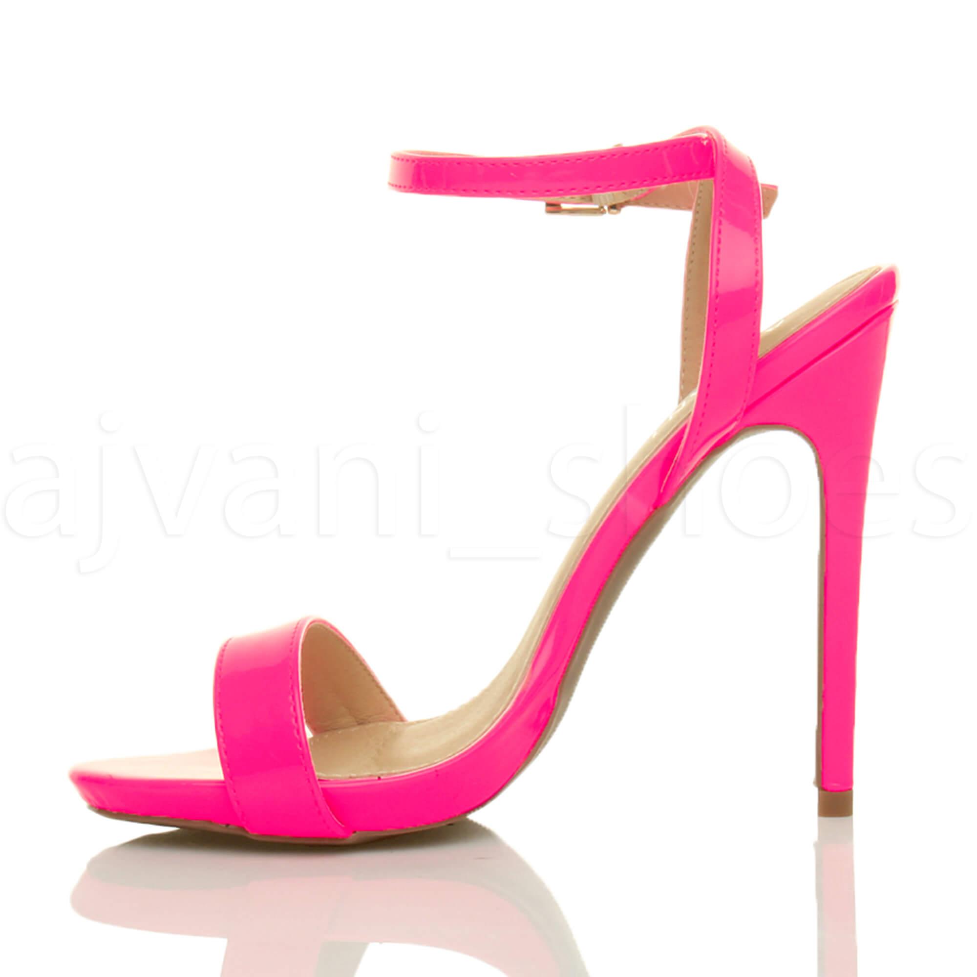 Donna-Alto-Tacco-Partito-Quasi-Li-Fibbia-Con-Cinturino-Sandali-Scarpe-Numero miniatura 28
