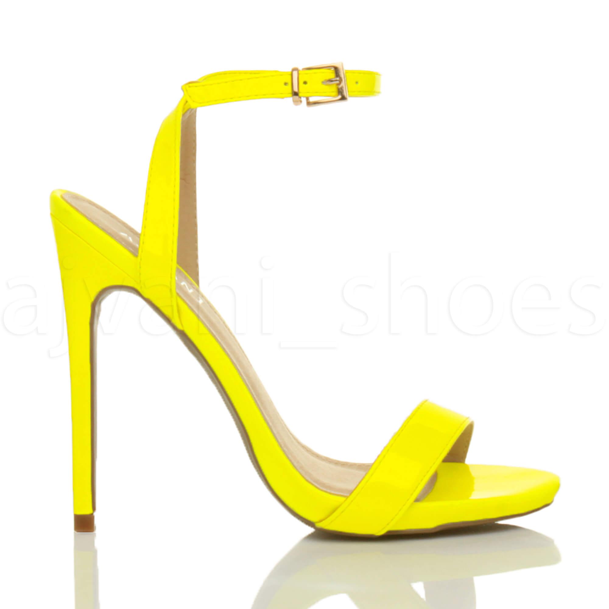 Donna-Alto-Tacco-Partito-Quasi-Li-Fibbia-Con-Cinturino-Sandali-Scarpe-Numero miniatura 43