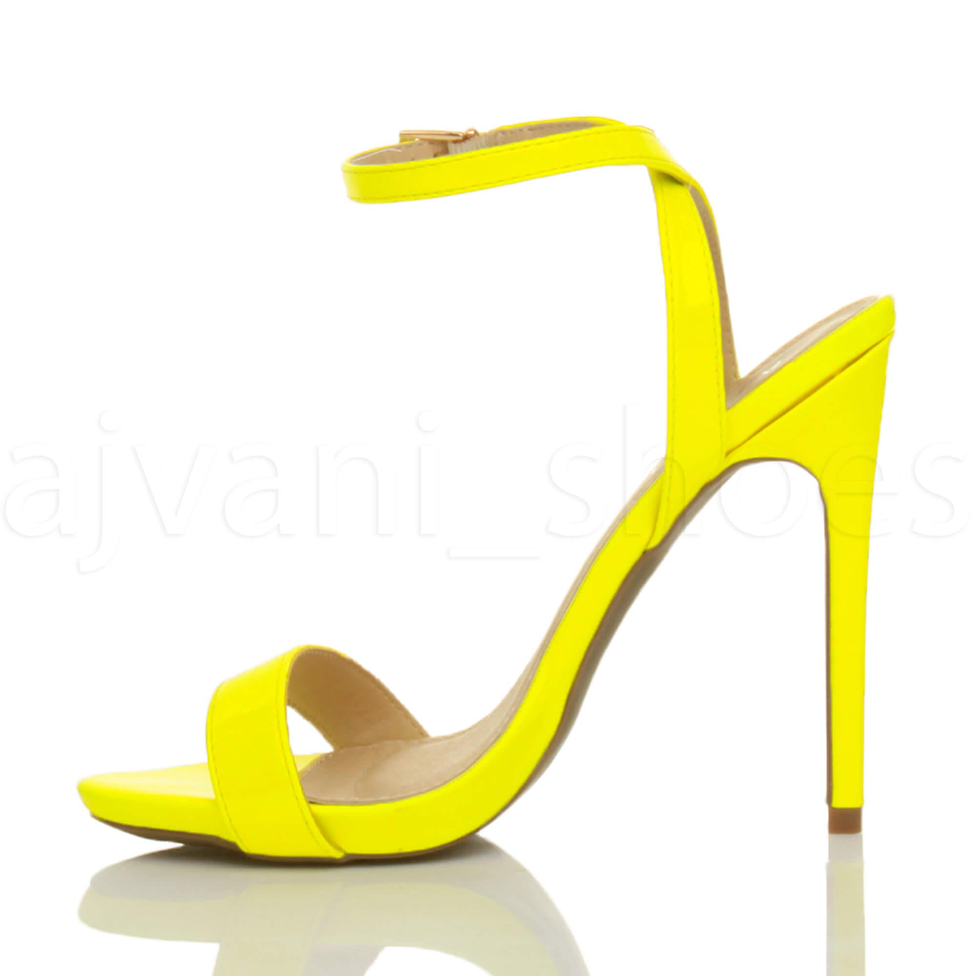 Donna-Alto-Tacco-Partito-Quasi-Li-Fibbia-Con-Cinturino-Sandali-Scarpe-Numero miniatura 44