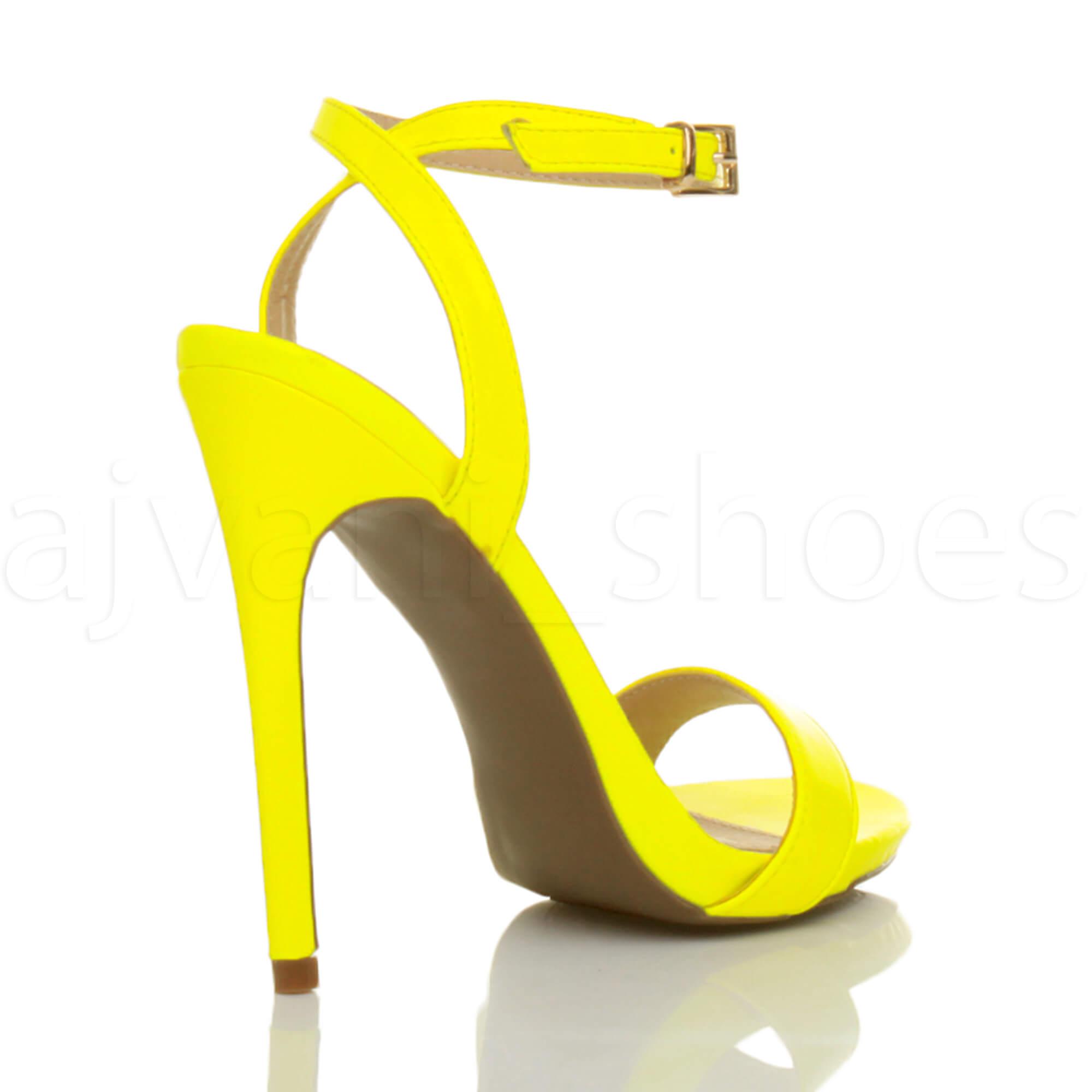 Donna-Alto-Tacco-Partito-Quasi-Li-Fibbia-Con-Cinturino-Sandali-Scarpe-Numero miniatura 45