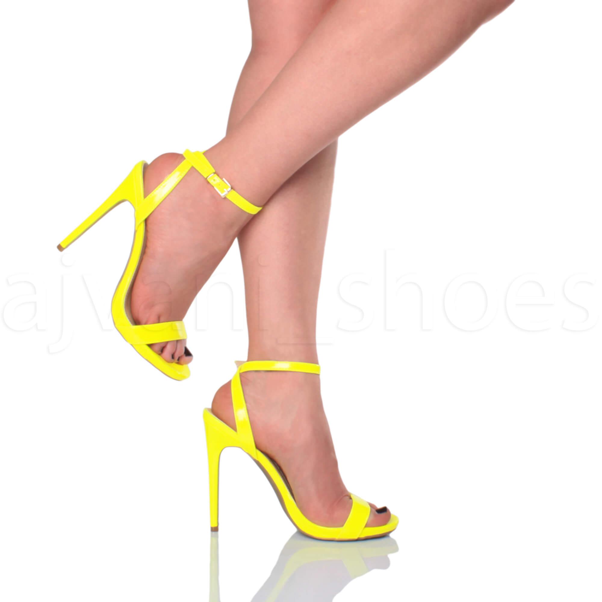 Donna-Alto-Tacco-Partito-Quasi-Li-Fibbia-Con-Cinturino-Sandali-Scarpe-Numero miniatura 46