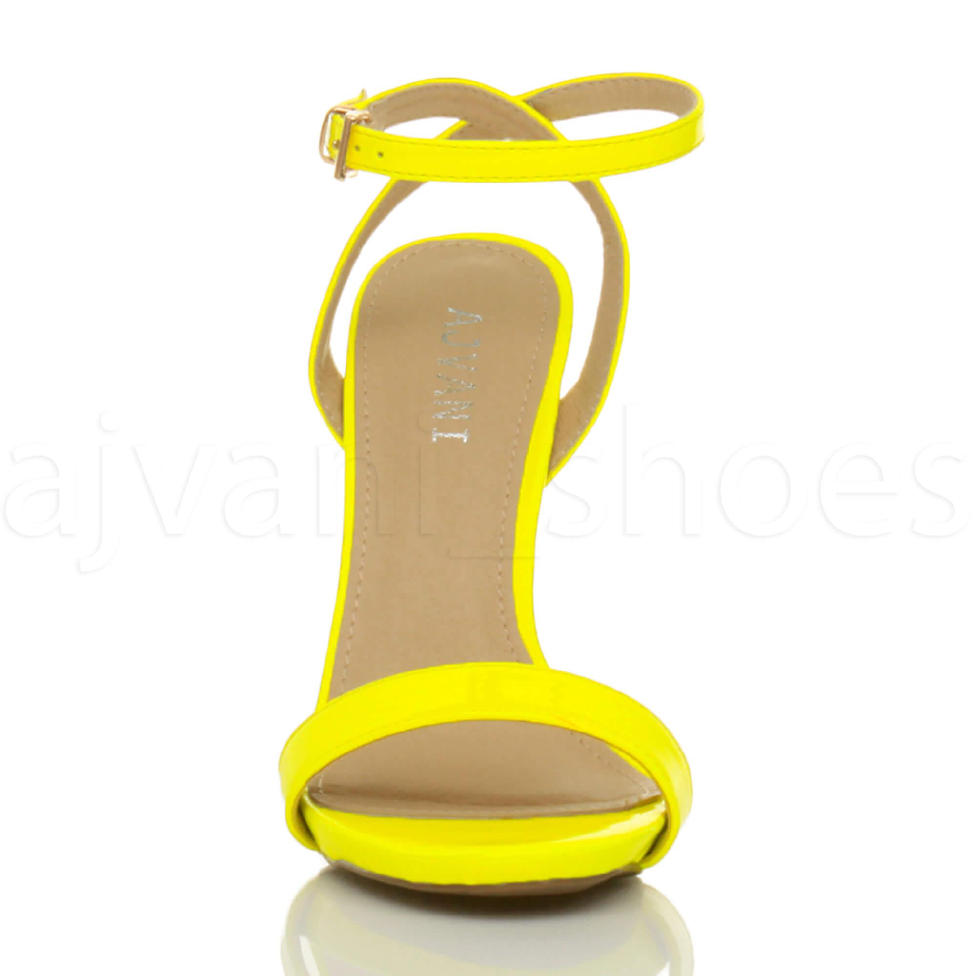 Donna-Alto-Tacco-Partito-Quasi-Li-Fibbia-Con-Cinturino-Sandali-Scarpe-Numero miniatura 47
