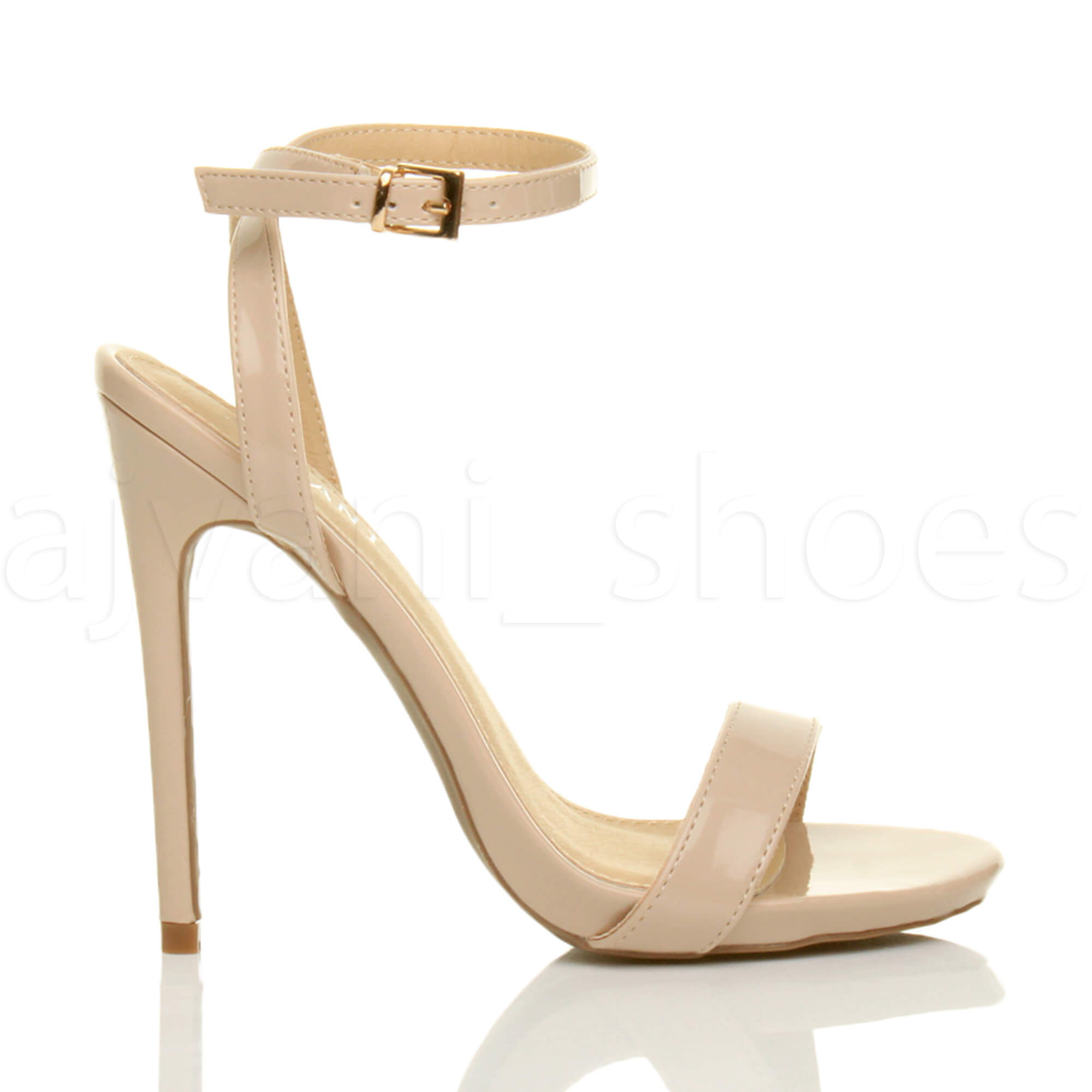 WOMENS-LADIES-HIGH-HEEL-ANKLE-STRAP-BARELY-THERE-STRAPPY-SANDALS-SHOES-SIZE thumbnail 73