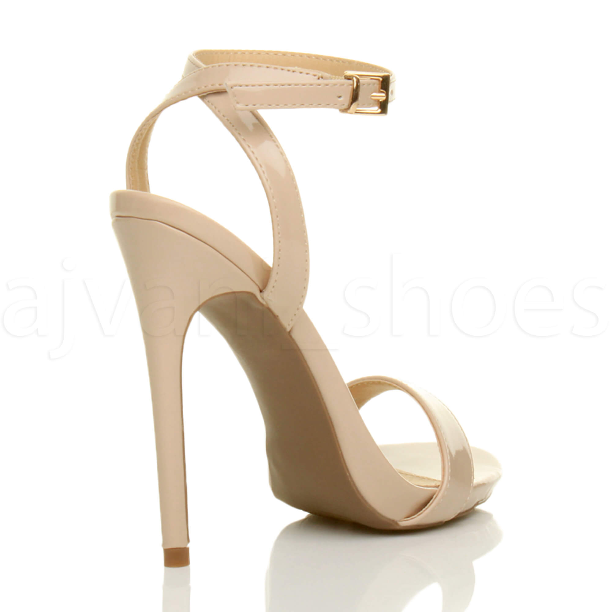 WOMENS-LADIES-HIGH-HEEL-ANKLE-STRAP-BARELY-THERE-STRAPPY-SANDALS-SHOES-SIZE thumbnail 75