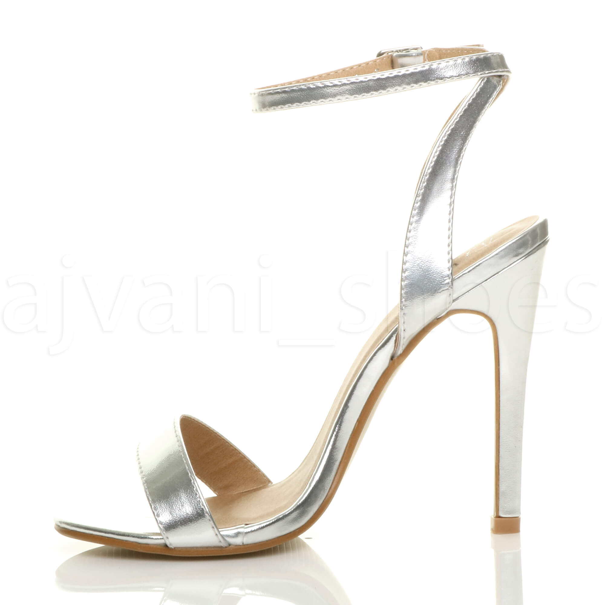 WOMENS-LADIES-HIGH-HEEL-ANKLE-STRAP-BARELY-THERE-STRAPPY-SANDALS-SHOES-SIZE thumbnail 109