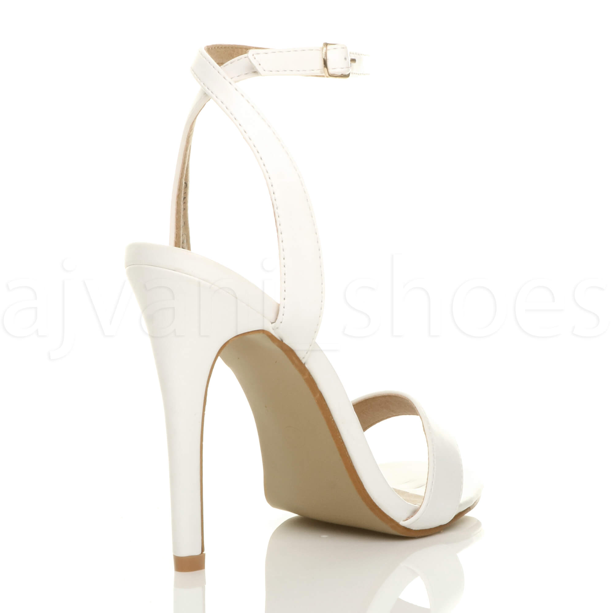 Donna-Alto-Tacco-Partito-Quasi-Li-Fibbia-Con-Cinturino-Sandali-Scarpe-Numero miniatura 13