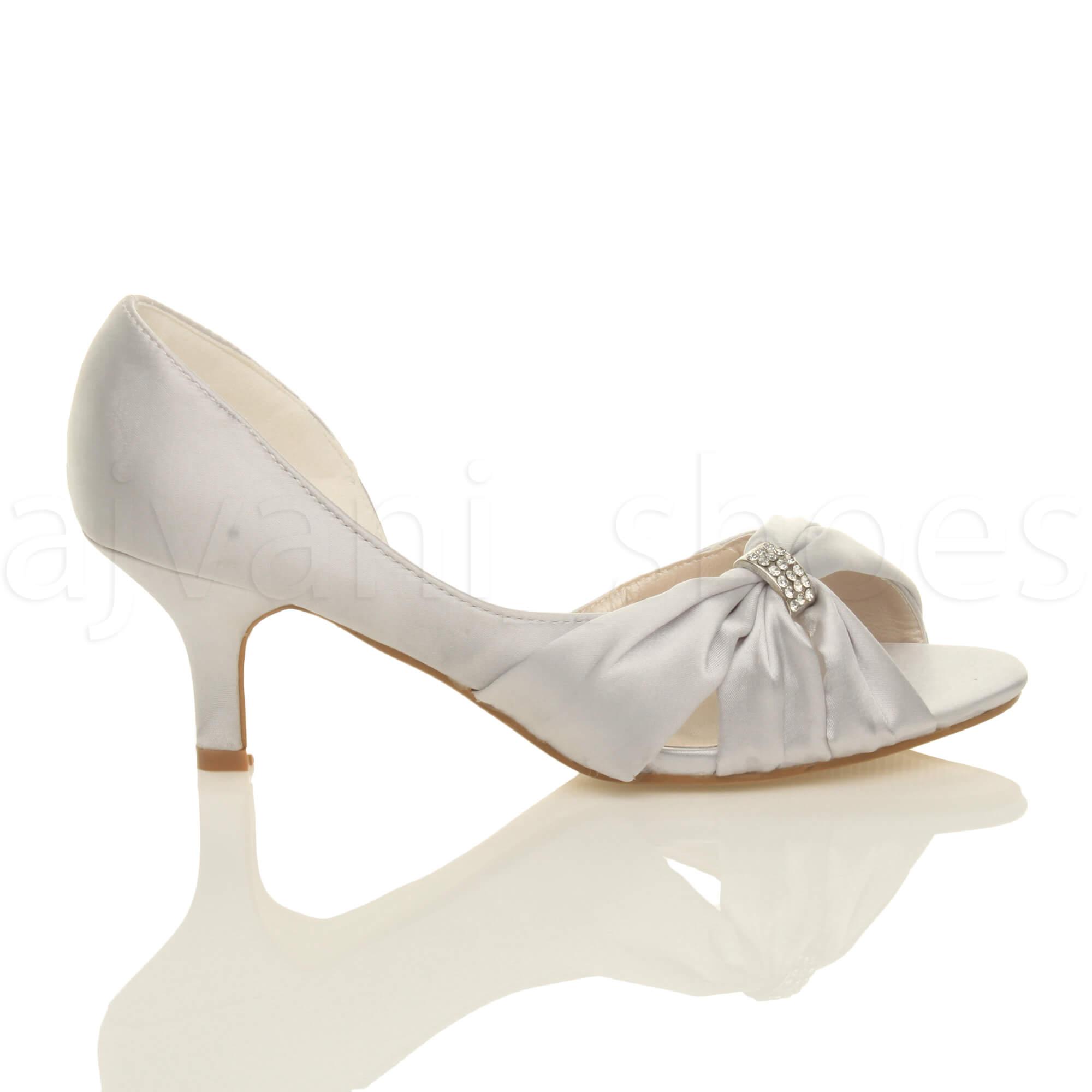 WOMENS-LADIES-WEDDING-EVENING-LOW-KITTEN-HEEL-PEEPTOE-SHOES-SANDALS-SIZE thumbnail 13