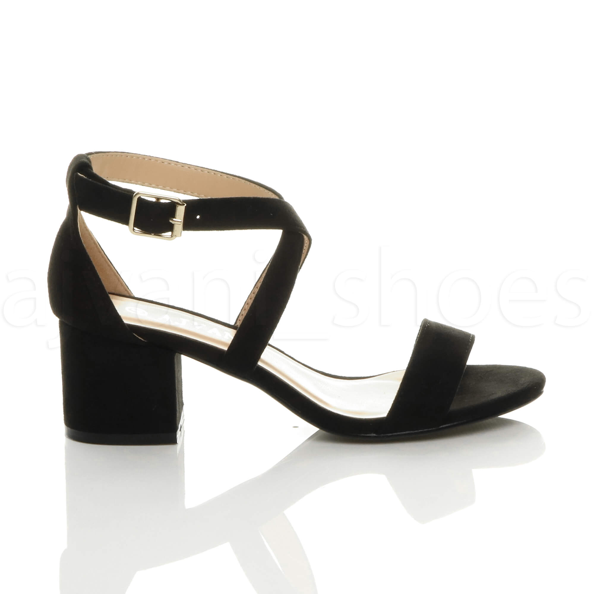 WOMENS-LADIES-MID-LOW-BLOCK-HEEL-CROSS-STRAPS-PARTY-STRAPPY-SANDALS-SHOES-SIZE thumbnail 5