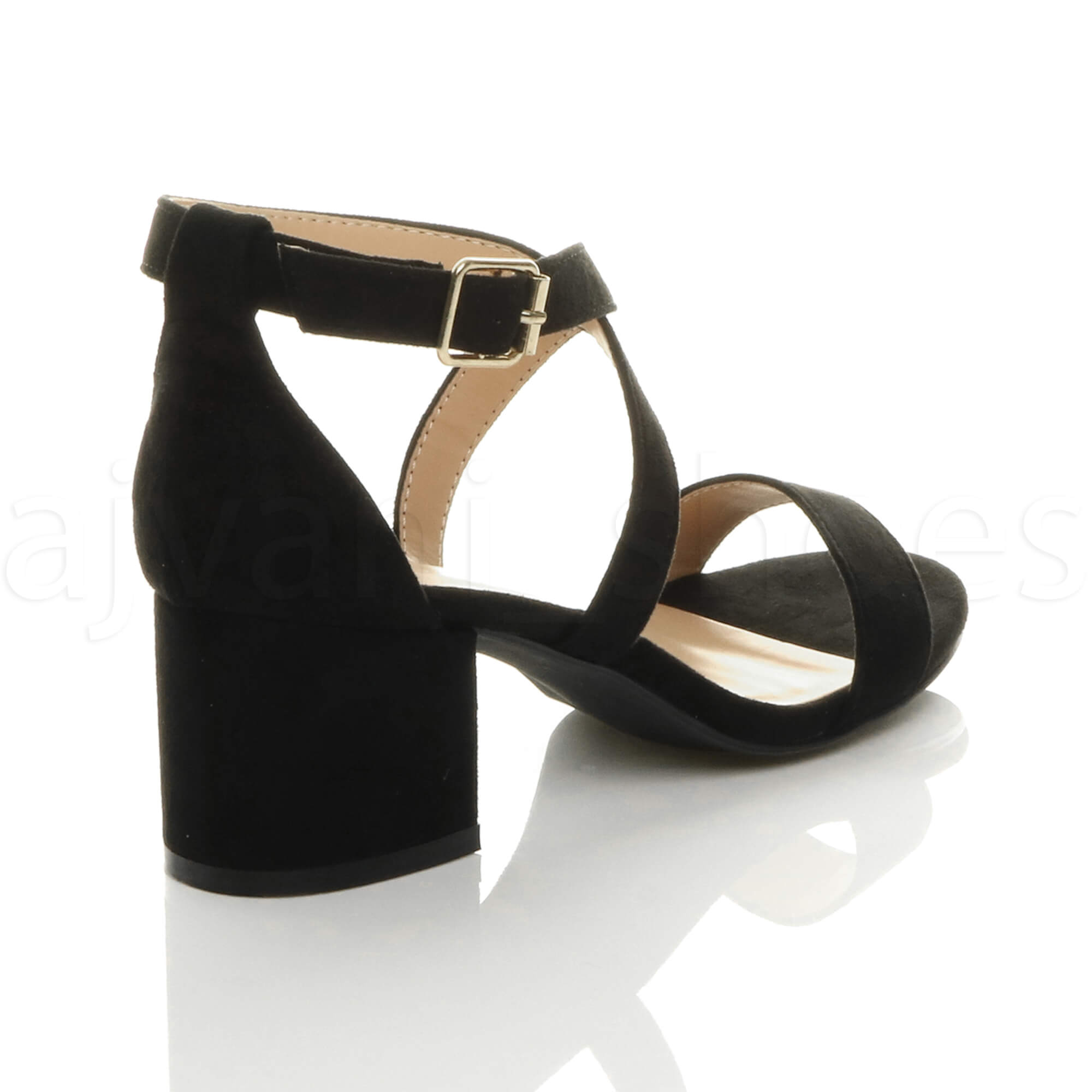 WOMENS-LADIES-MID-LOW-BLOCK-HEEL-CROSS-STRAPS-PARTY-STRAPPY-SANDALS-SHOES-SIZE thumbnail 7