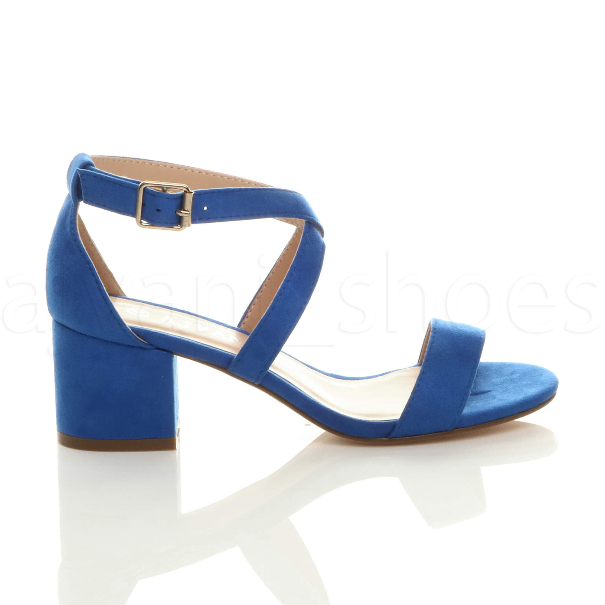 WOMENS-LADIES-MID-LOW-BLOCK-HEEL-CROSS-STRAPS-PARTY-STRAPPY-SANDALS-SHOES-SIZE thumbnail 13