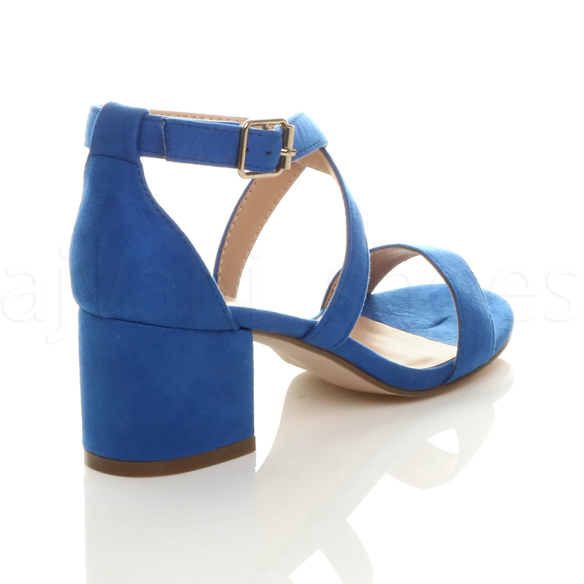 WOMENS-LADIES-MID-LOW-BLOCK-HEEL-CROSS-STRAPS-PARTY-STRAPPY-SANDALS-SHOES-SIZE thumbnail 15