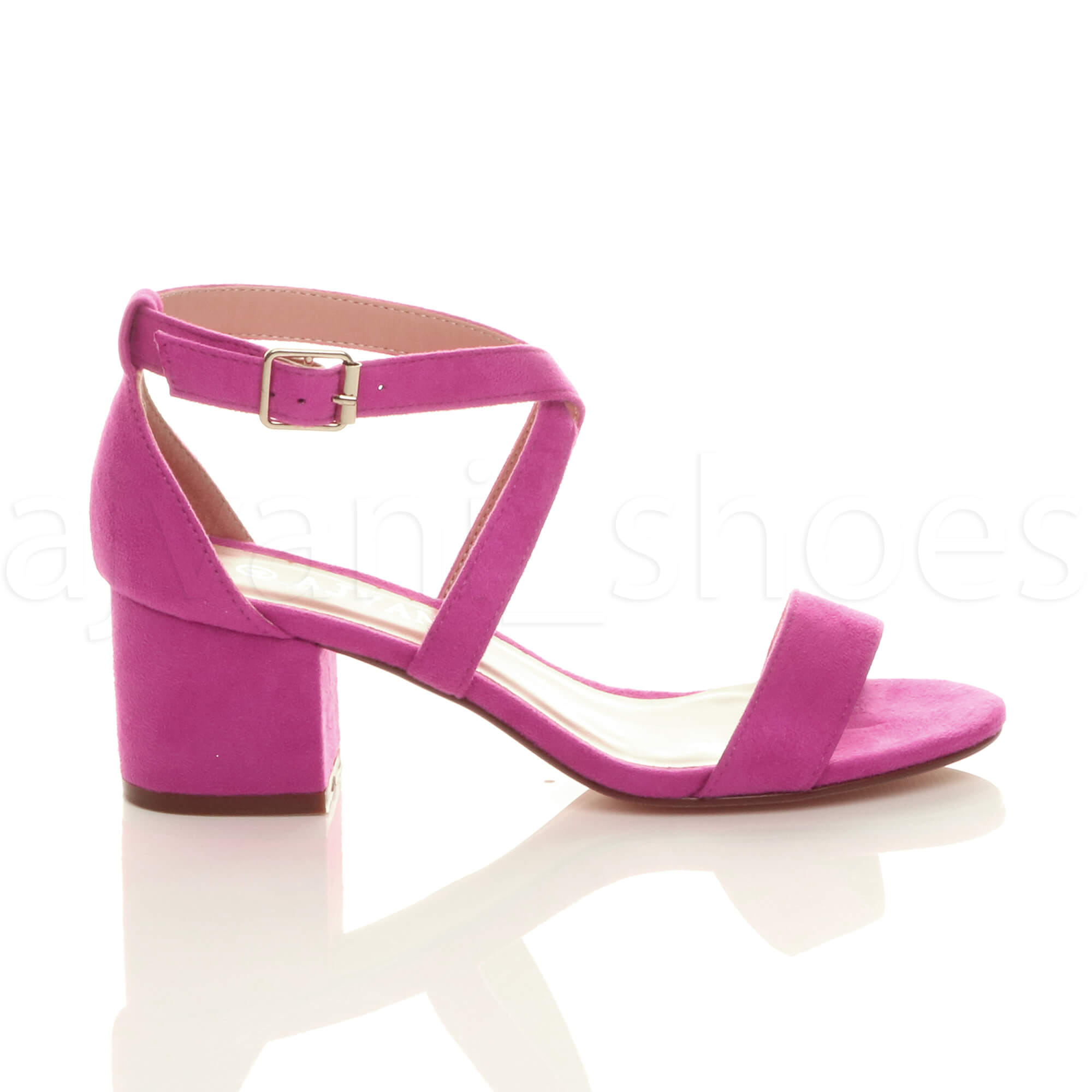 WOMENS-LADIES-MID-LOW-BLOCK-HEEL-CROSS-STRAPS-PARTY-STRAPPY-SANDALS-SHOES-SIZE thumbnail 22