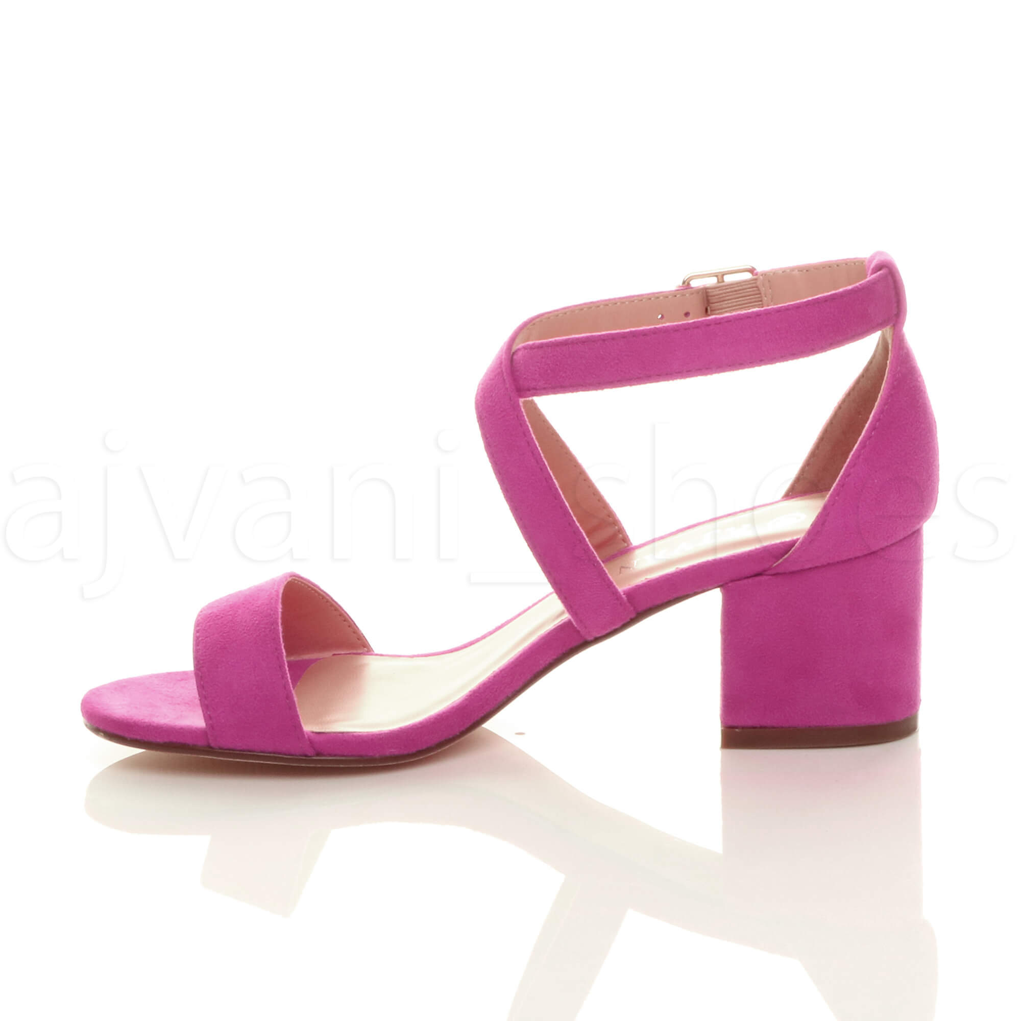 WOMENS-LADIES-MID-LOW-BLOCK-HEEL-CROSS-STRAPS-PARTY-STRAPPY-SANDALS-SHOES-SIZE thumbnail 23