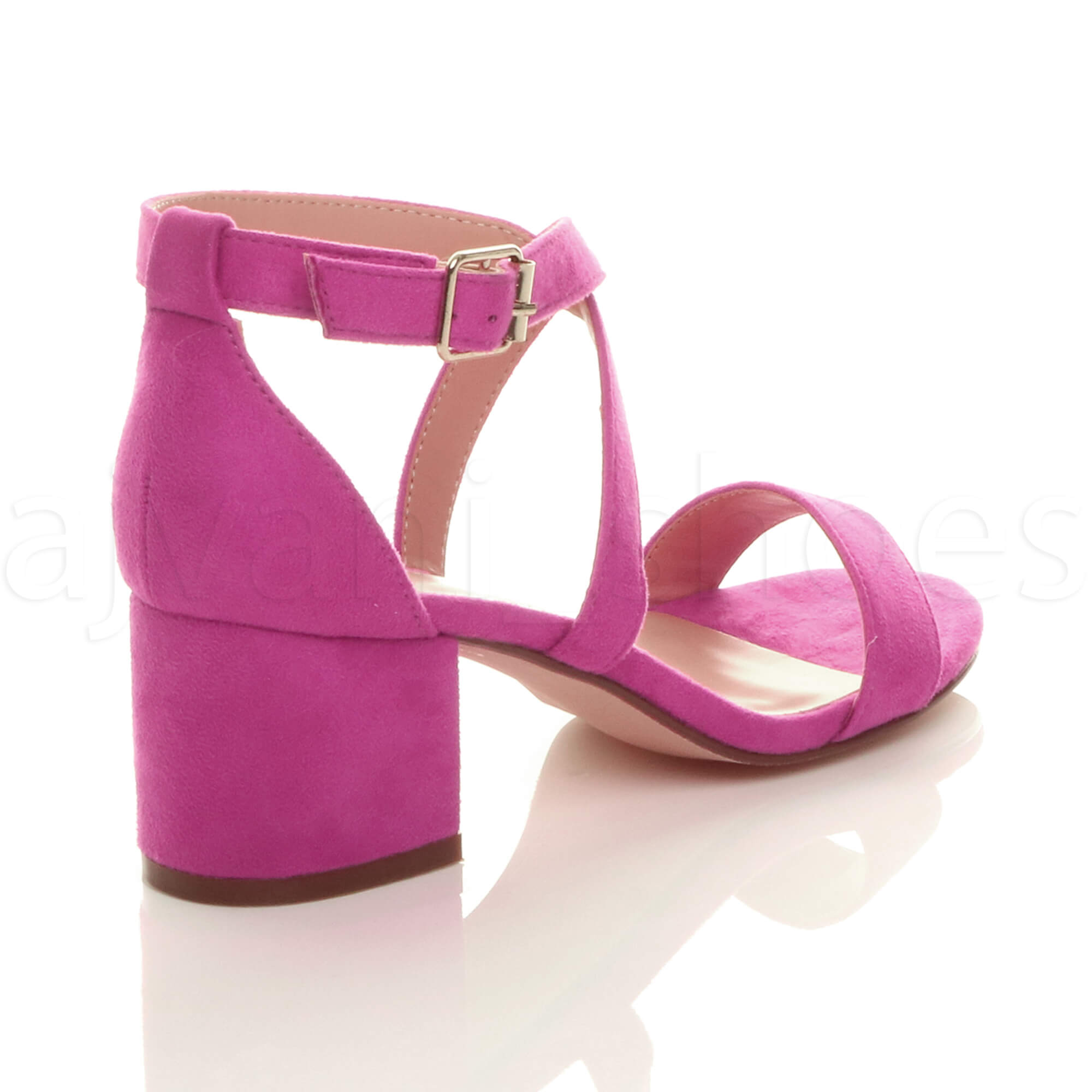 WOMENS-LADIES-MID-LOW-BLOCK-HEEL-CROSS-STRAPS-PARTY-STRAPPY-SANDALS-SHOES-SIZE thumbnail 24