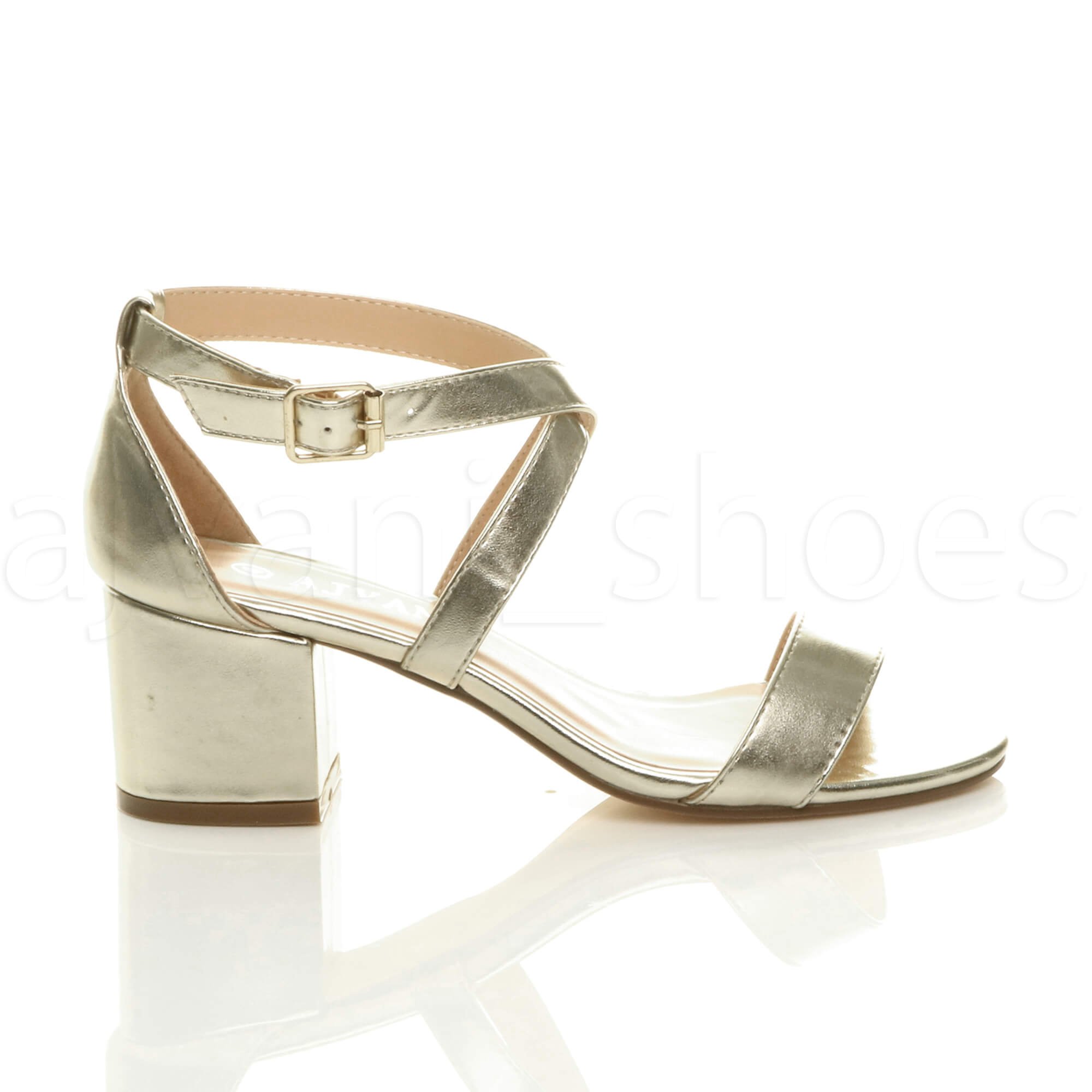 WOMENS-LADIES-MID-LOW-BLOCK-HEEL-CROSS-STRAPS-PARTY-STRAPPY-SANDALS-SHOES-SIZE thumbnail 30