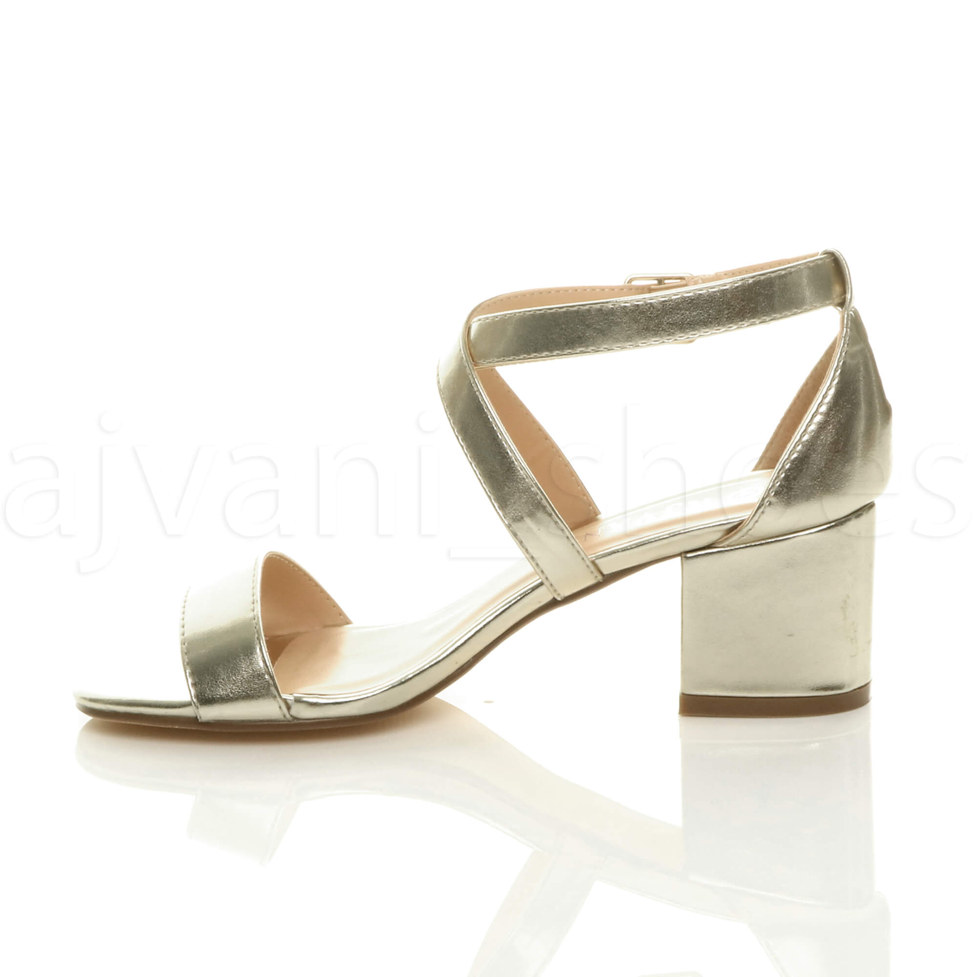 WOMENS-LADIES-MID-LOW-BLOCK-HEEL-CROSS-STRAPS-PARTY-STRAPPY-SANDALS-SHOES-SIZE thumbnail 31