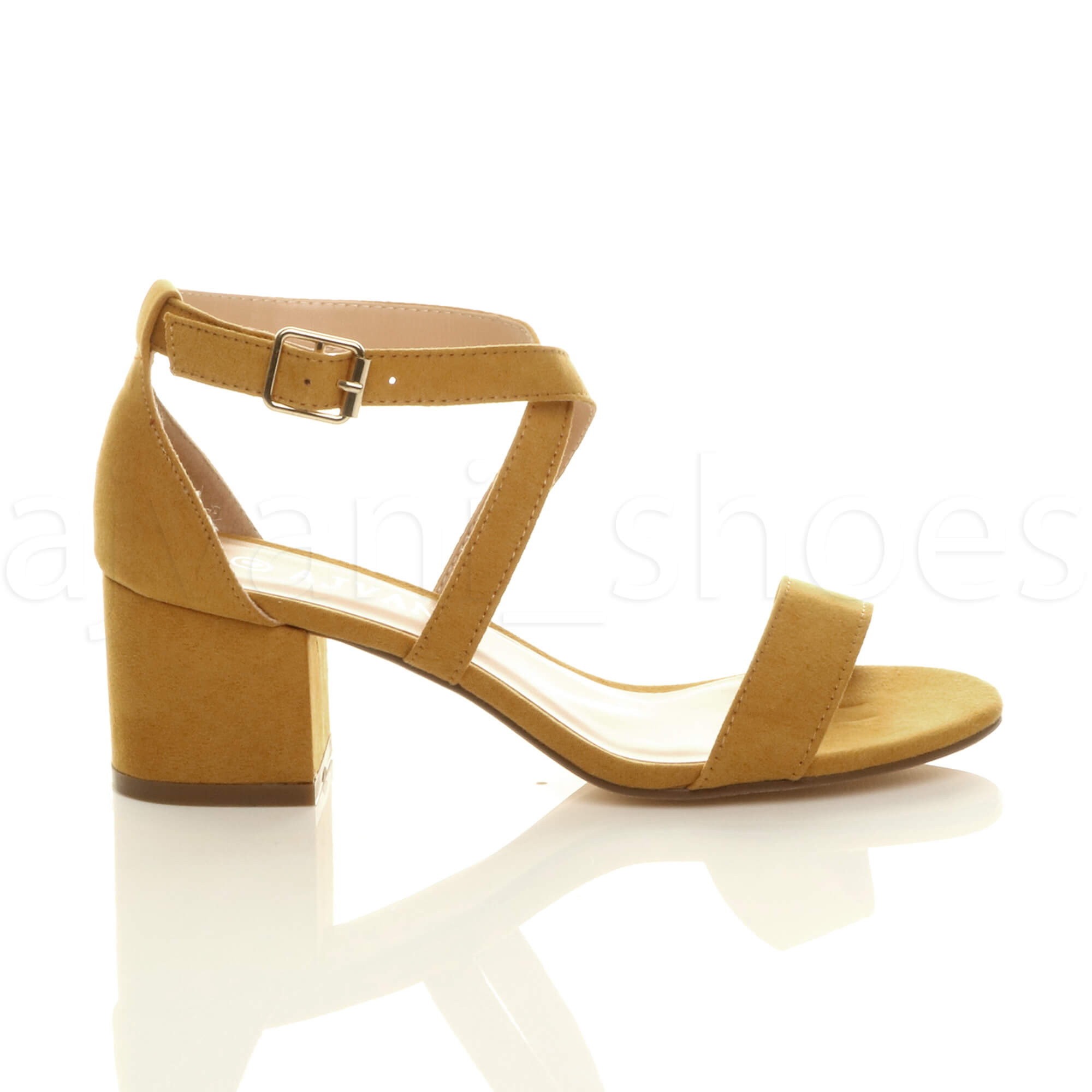 WOMENS-LADIES-MID-LOW-BLOCK-HEEL-CROSS-STRAPS-PARTY-STRAPPY-SANDALS-SHOES-SIZE thumbnail 42