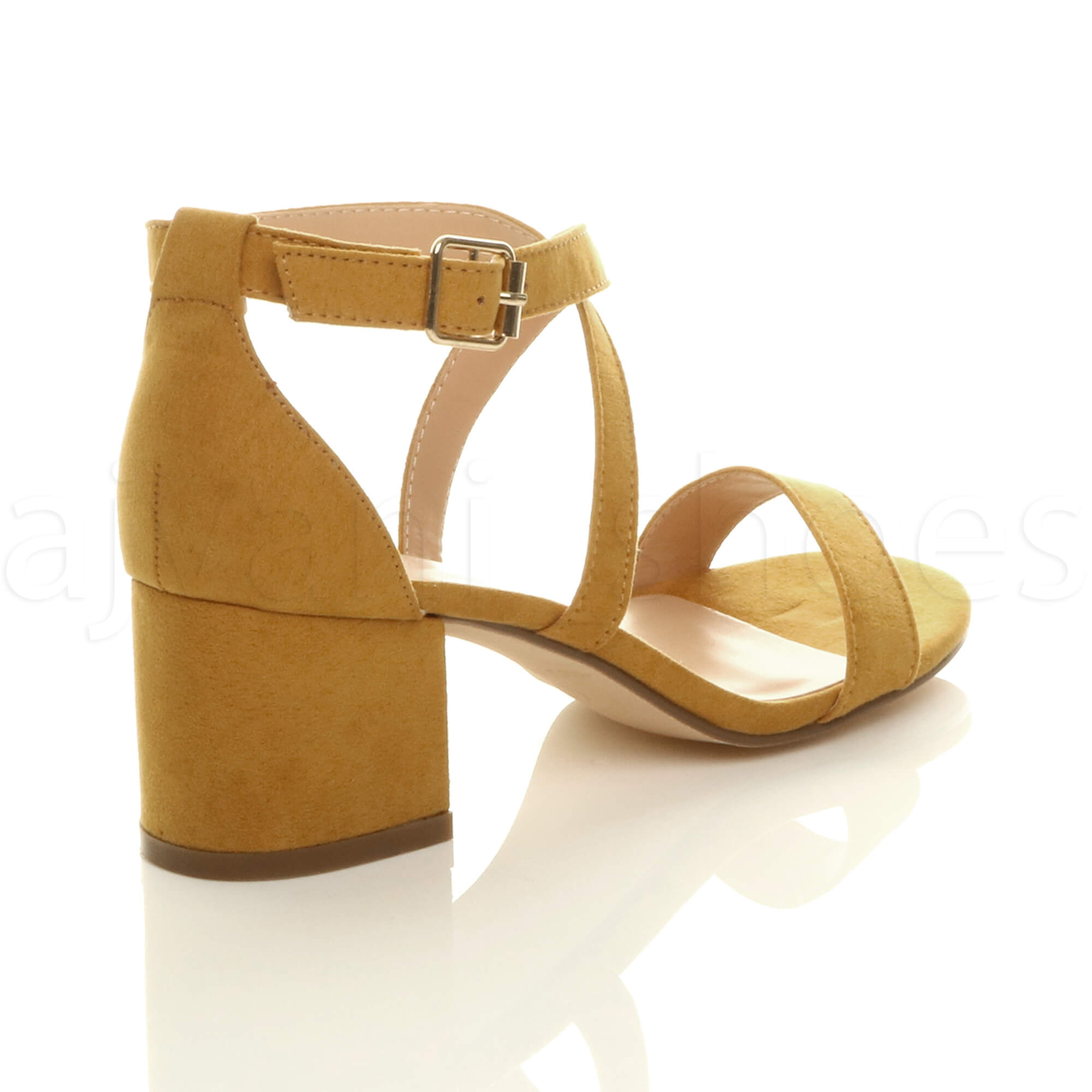 WOMENS-LADIES-MID-LOW-BLOCK-HEEL-CROSS-STRAPS-PARTY-STRAPPY-SANDALS-SHOES-SIZE thumbnail 44