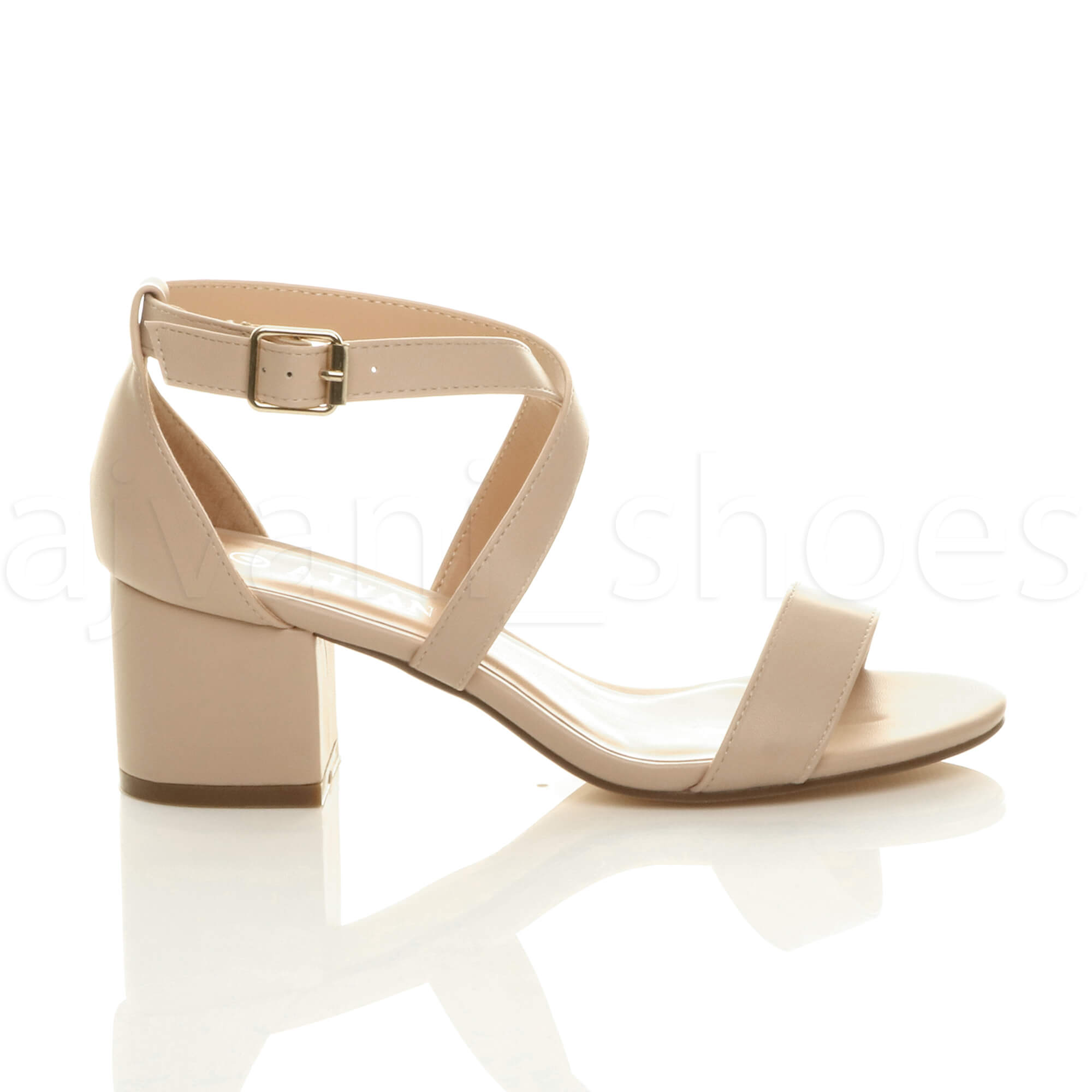 WOMENS-LADIES-MID-LOW-BLOCK-HEEL-CROSS-STRAPS-PARTY-STRAPPY-SANDALS-SHOES-SIZE thumbnail 52