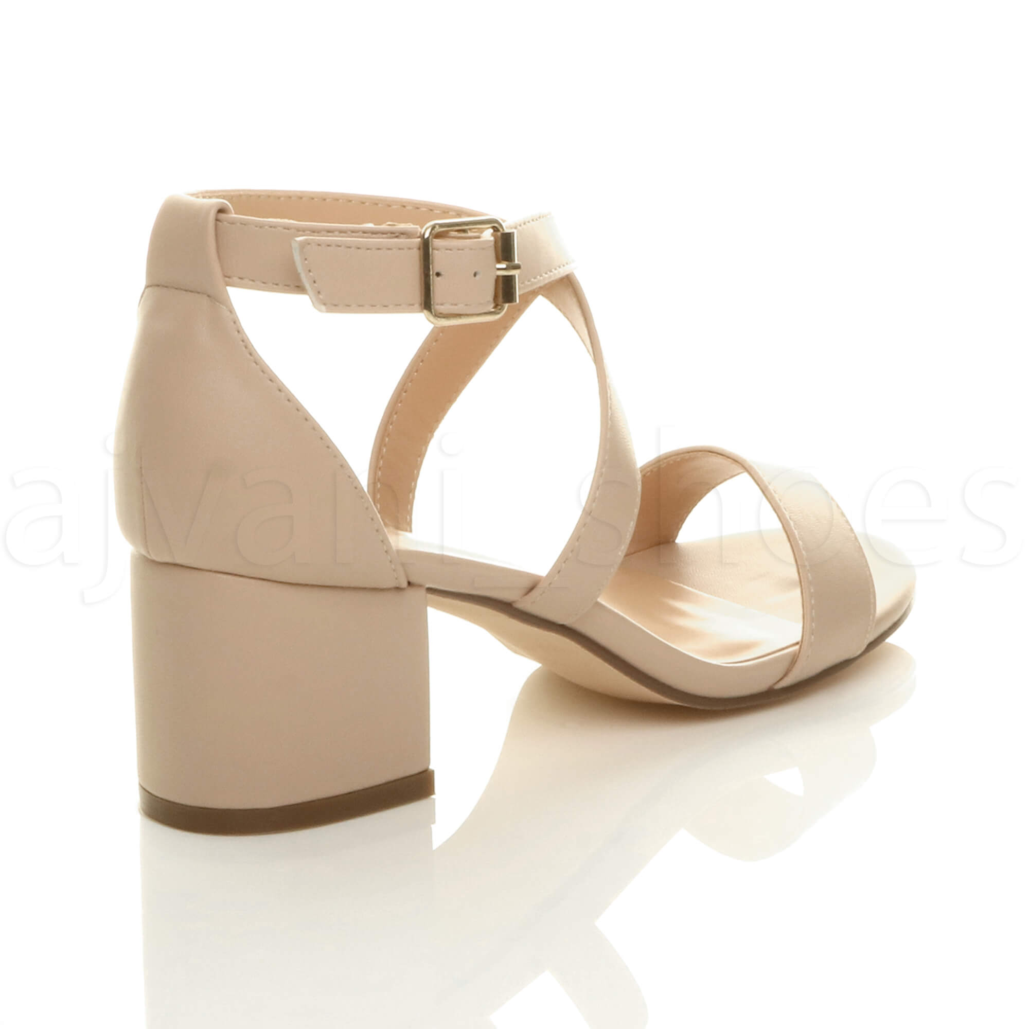 WOMENS-LADIES-MID-LOW-BLOCK-HEEL-CROSS-STRAPS-PARTY-STRAPPY-SANDALS-SHOES-SIZE thumbnail 54
