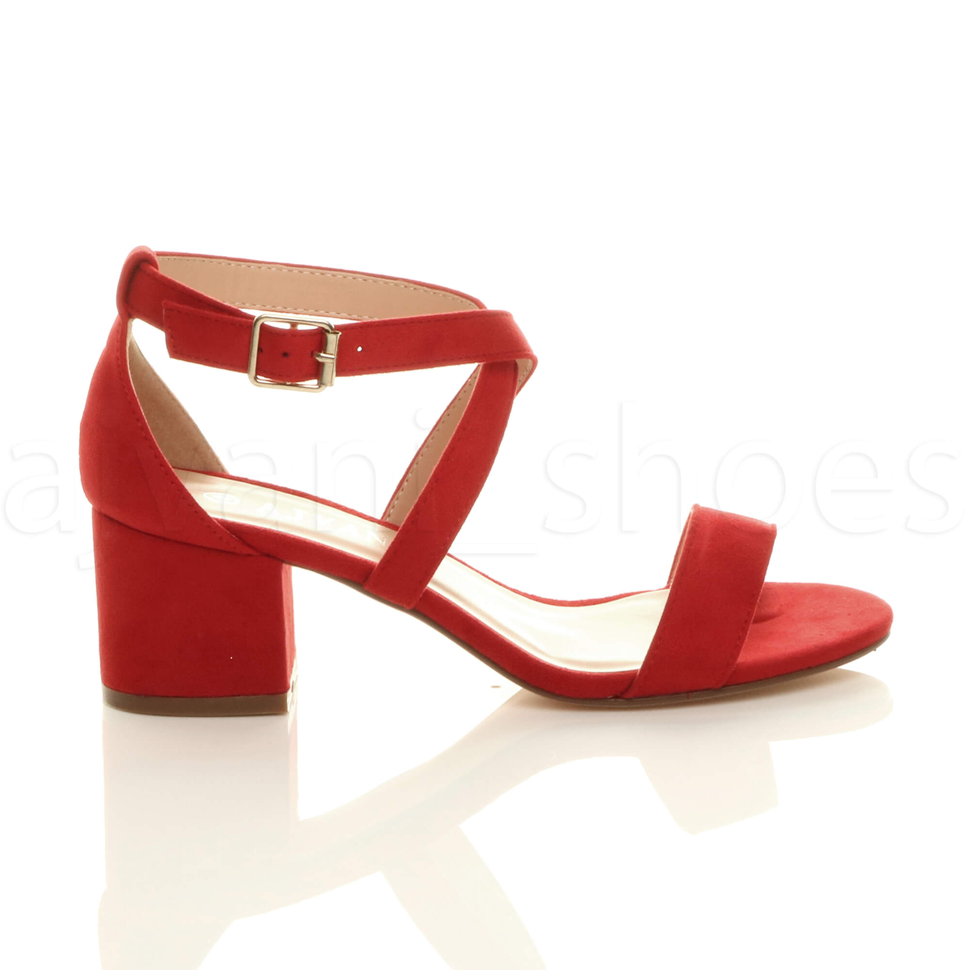 WOMENS-LADIES-MID-LOW-BLOCK-HEEL-CROSS-STRAPS-PARTY-STRAPPY-SANDALS-SHOES-SIZE thumbnail 62