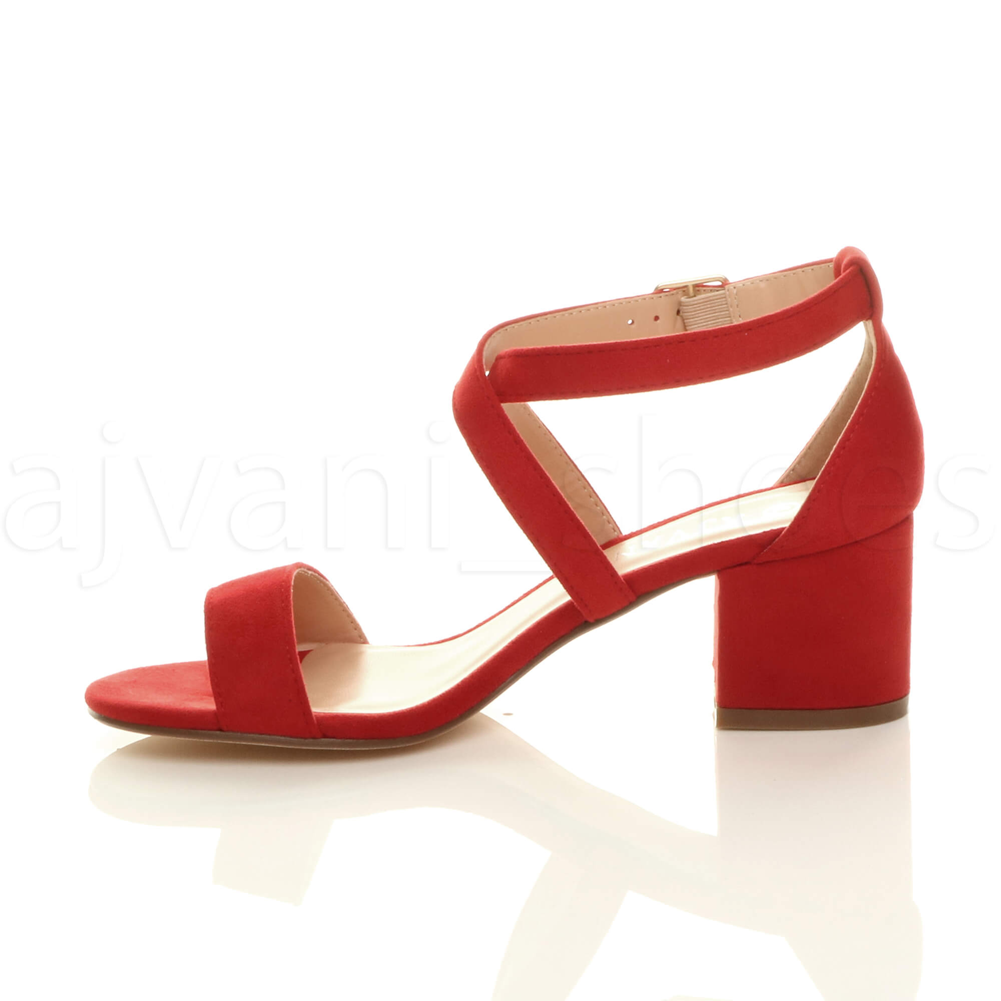 WOMENS-LADIES-MID-LOW-BLOCK-HEEL-CROSS-STRAPS-PARTY-STRAPPY-SANDALS-SHOES-SIZE thumbnail 63