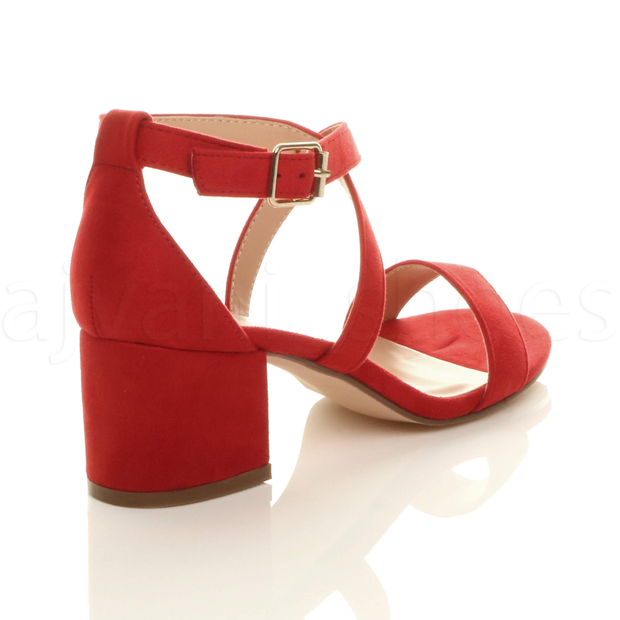 WOMENS-LADIES-MID-LOW-BLOCK-HEEL-CROSS-STRAPS-PARTY-STRAPPY-SANDALS-SHOES-SIZE thumbnail 64