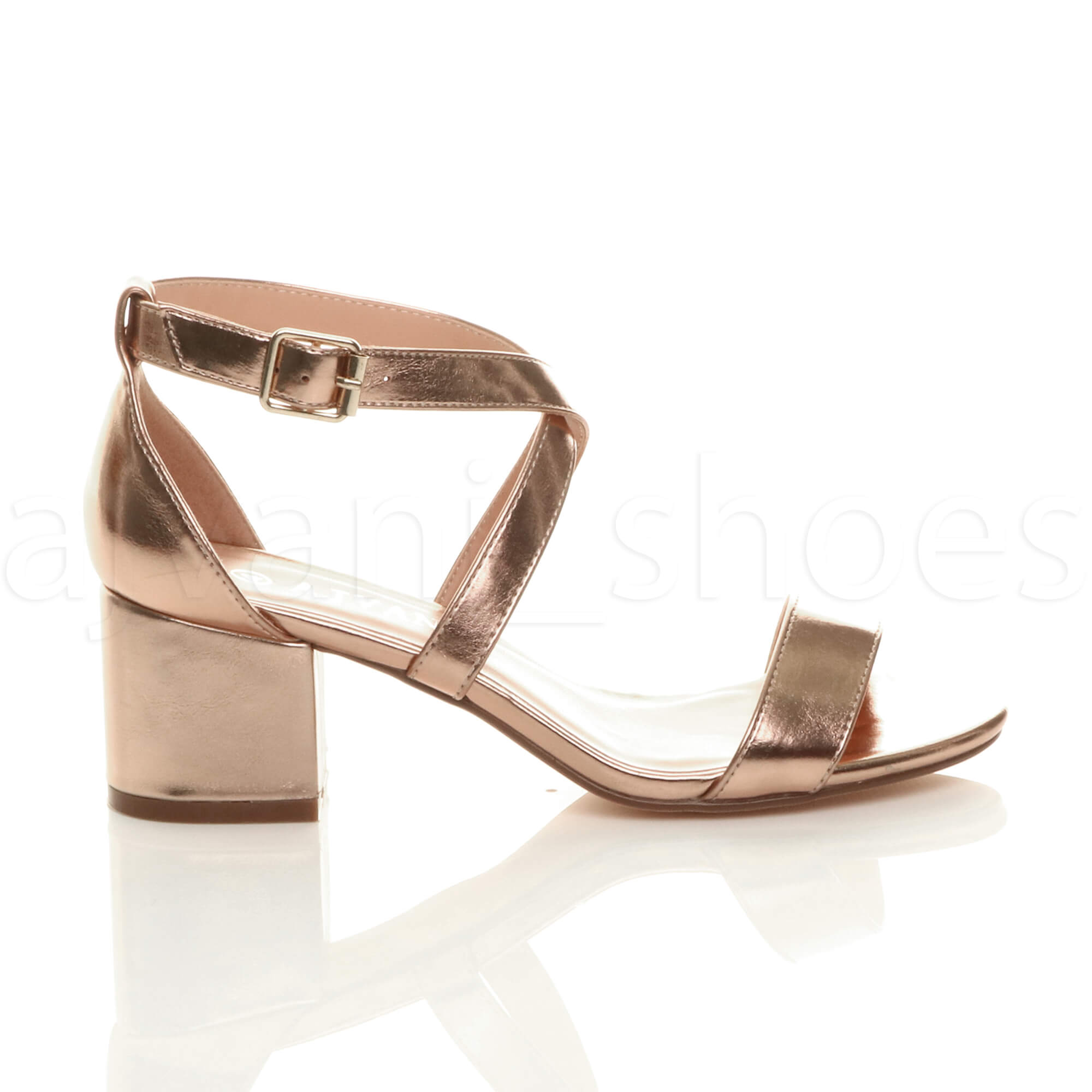 WOMENS-LADIES-MID-LOW-BLOCK-HEEL-CROSS-STRAPS-PARTY-STRAPPY-SANDALS-SHOES-SIZE thumbnail 70