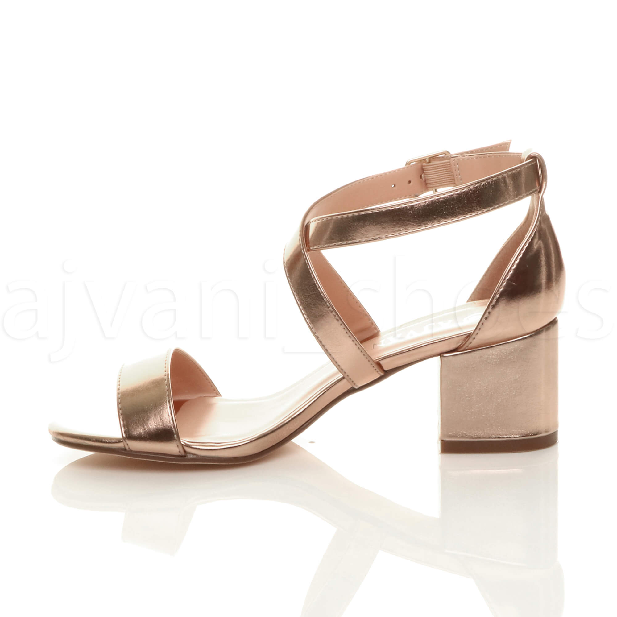WOMENS-LADIES-MID-LOW-BLOCK-HEEL-CROSS-STRAPS-PARTY-STRAPPY-SANDALS-SHOES-SIZE thumbnail 71