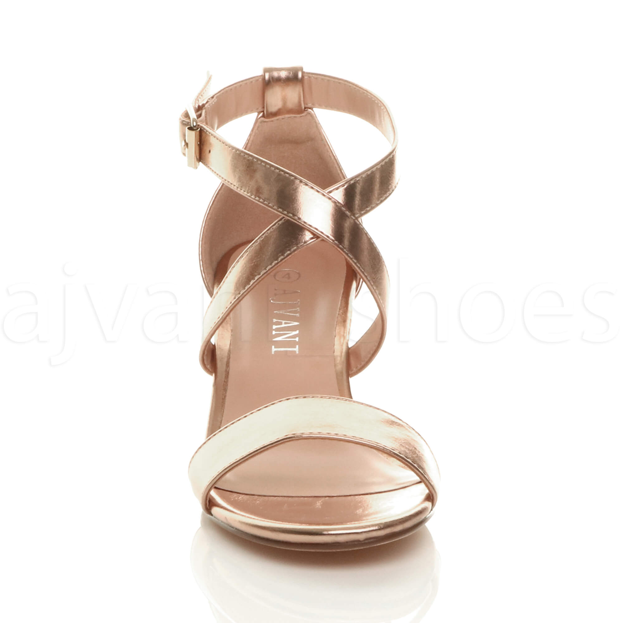 WOMENS-LADIES-MID-LOW-BLOCK-HEEL-CROSS-STRAPS-PARTY-STRAPPY-SANDALS-SHOES-SIZE thumbnail 74