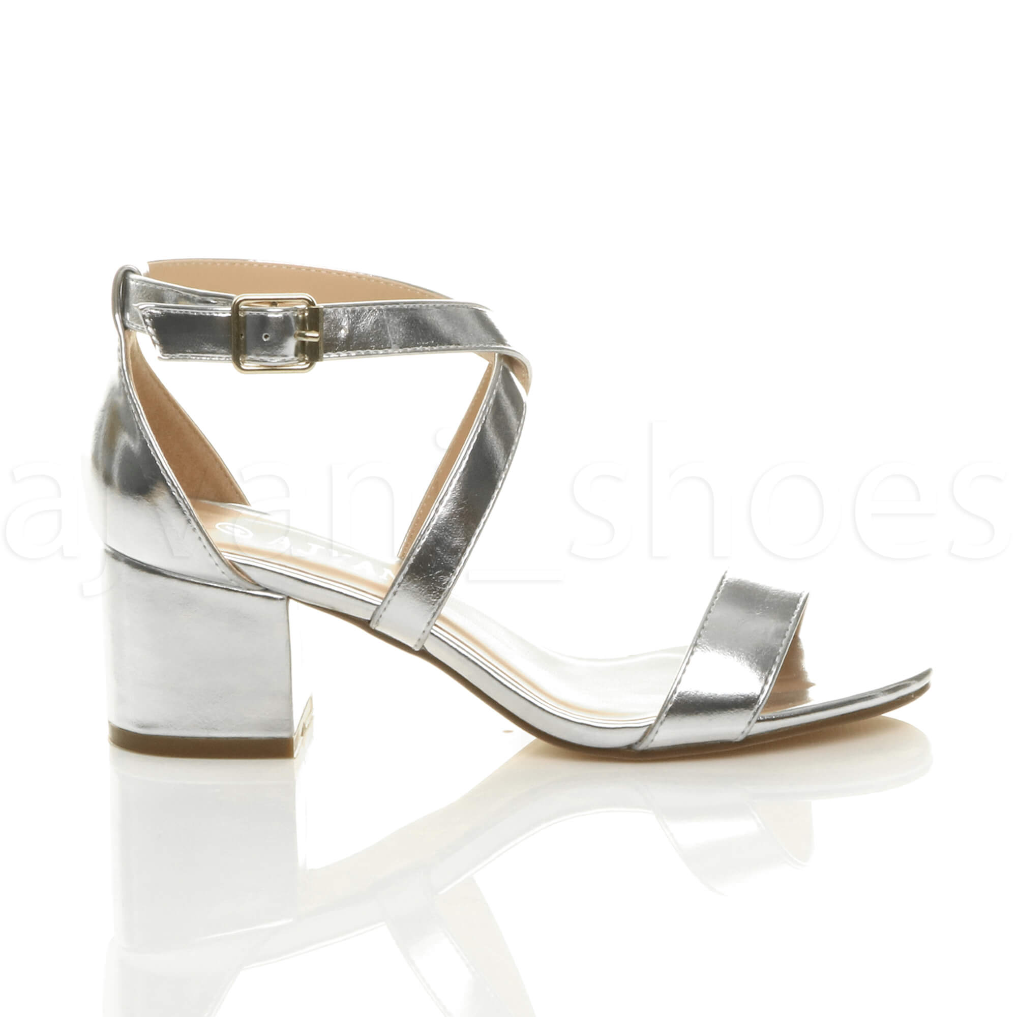 WOMENS-LADIES-MID-LOW-BLOCK-HEEL-CROSS-STRAPS-PARTY-STRAPPY-SANDALS-SHOES-SIZE thumbnail 79
