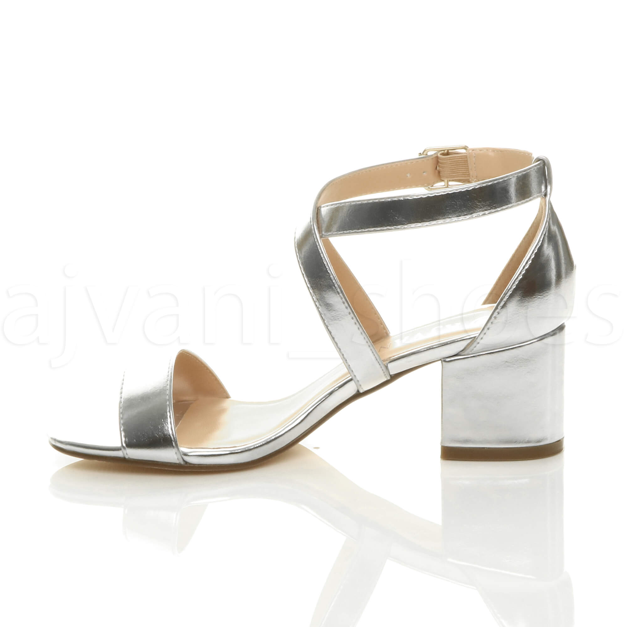 WOMENS-LADIES-MID-LOW-BLOCK-HEEL-CROSS-STRAPS-PARTY-STRAPPY-SANDALS-SHOES-SIZE thumbnail 80